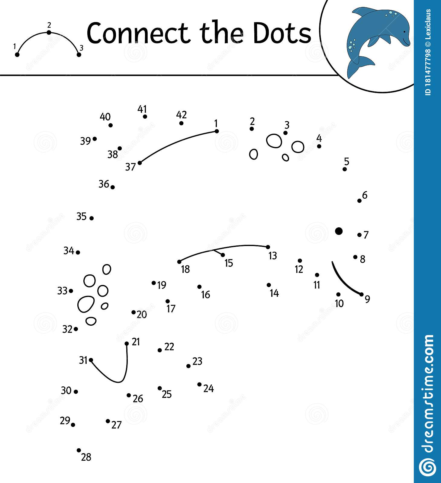 Vector Dot to dot Activity with Cute Animal Stock Vector ...