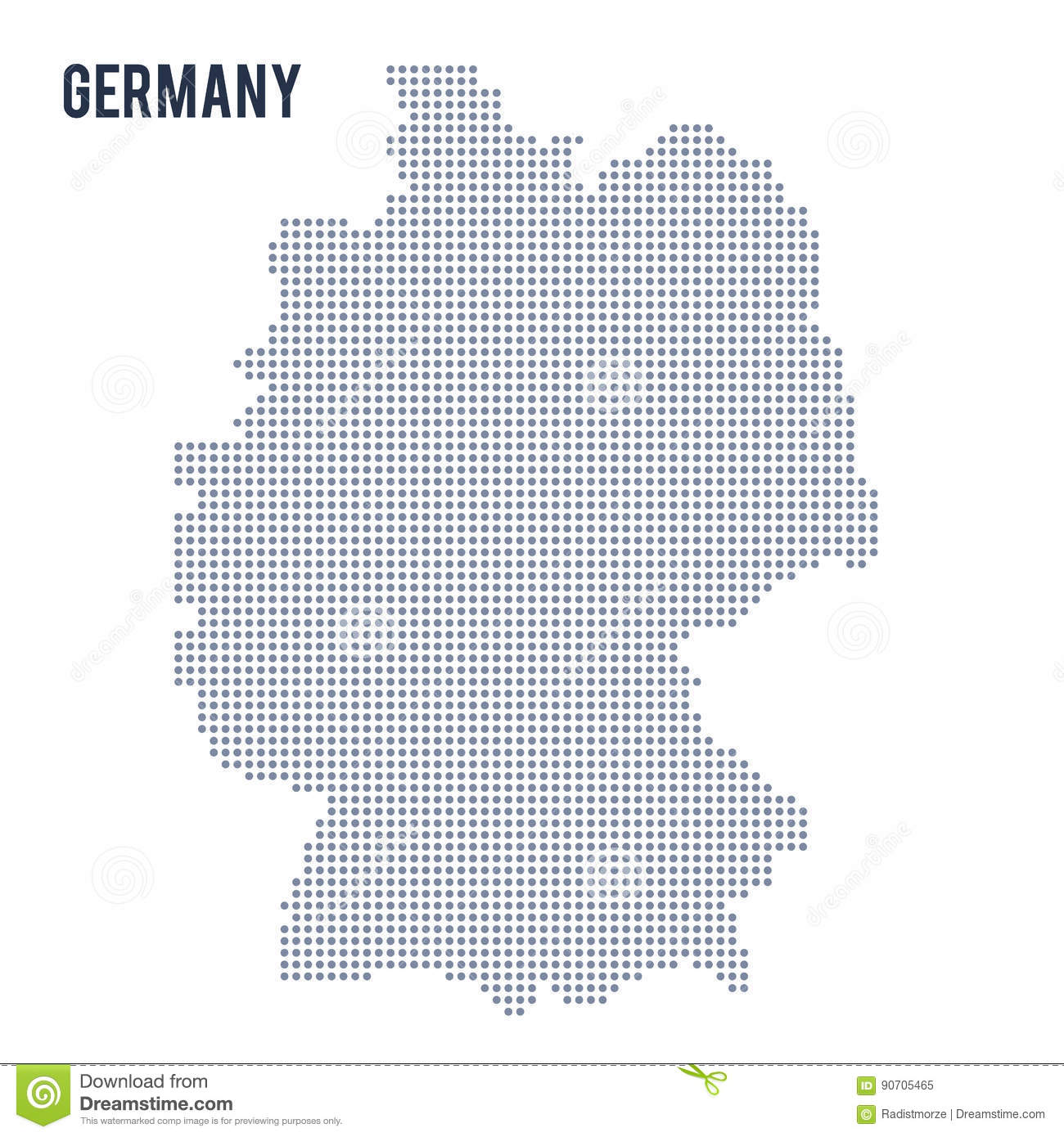 Vector Dotted Map Of Germany Isolated On White Background Stock - Germany map vector