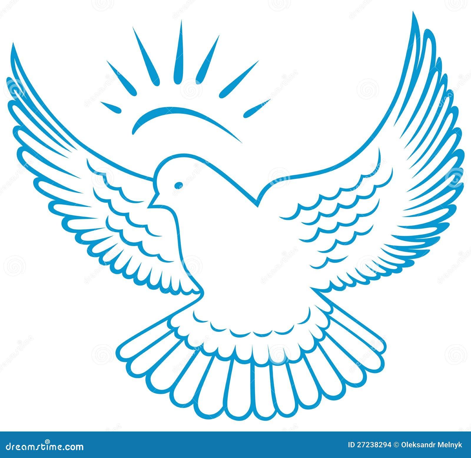 Dove Outline Vector dove symbol.