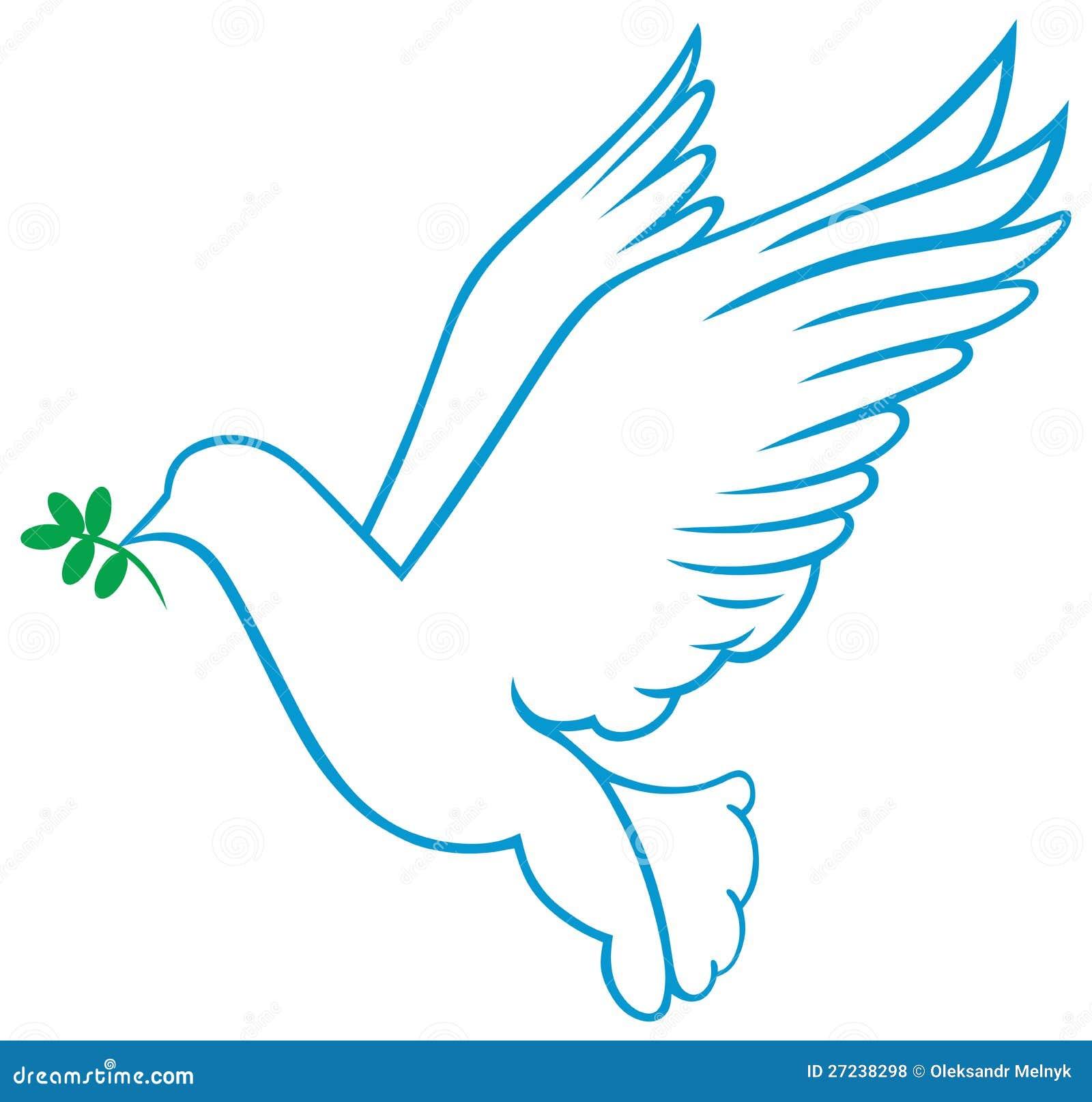 Vector dove symbol stock vector. Illustration of flying