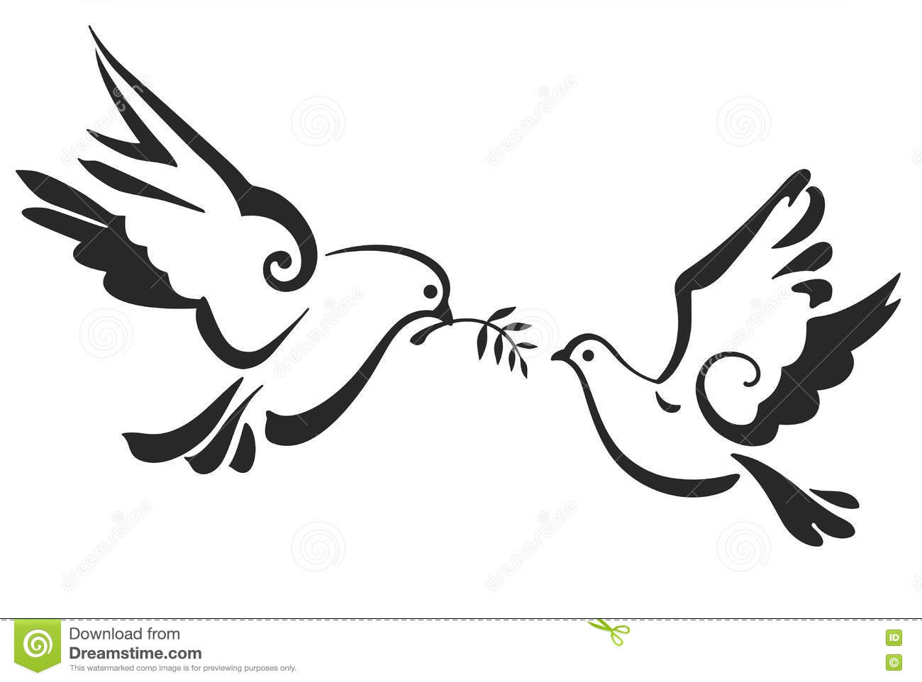 vector doves isolated on white peace dove with olive branch eps 10 rh dreamstime com White Dove Symbol Dove Symbolism in the Bible