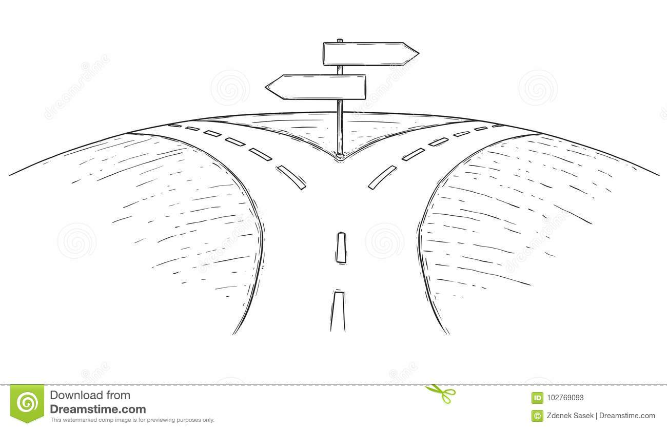 Fork in the Road Clip Art