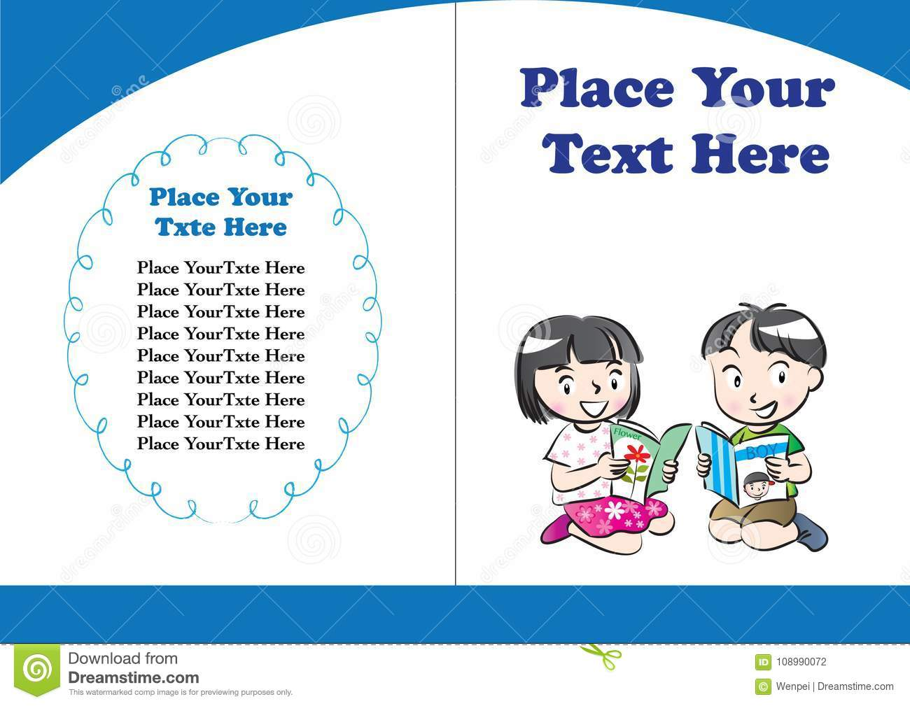 Children Book Cover Vector : Vector drawing kids book cover stock illustration