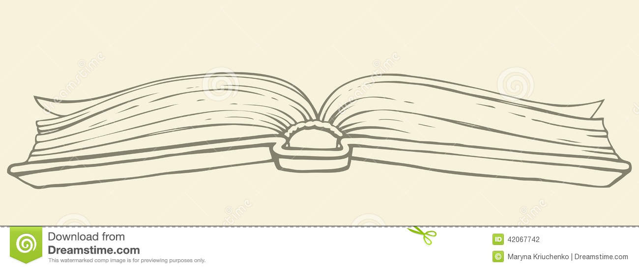 Open Book Cover Drawing : Vector drawing open book in hardcover stock