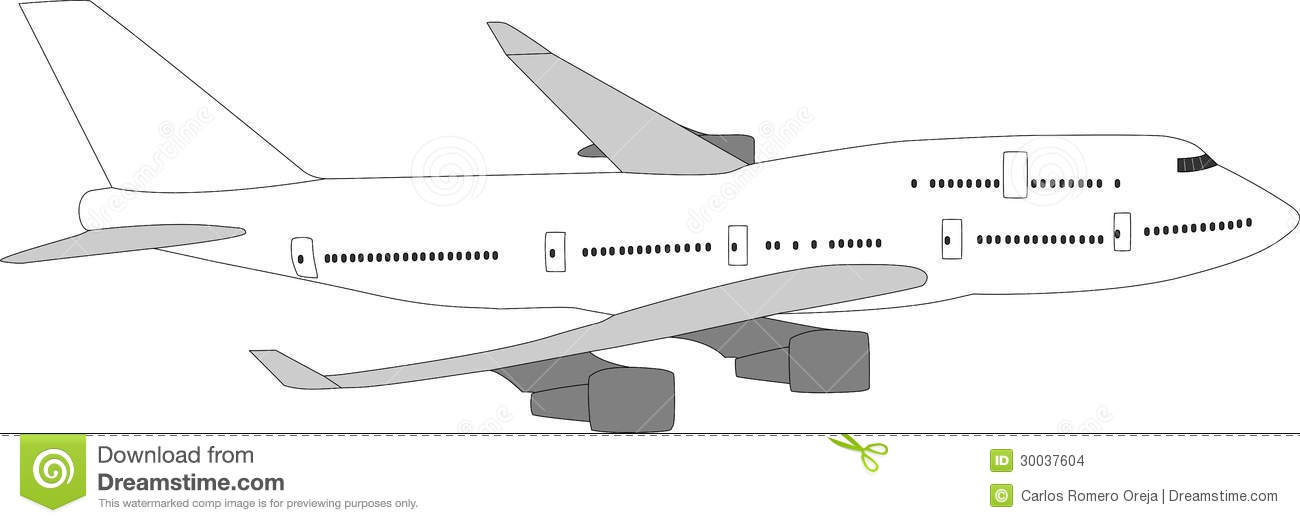 Large passenger aircraft stock vector. Illustration of trip - 30037604