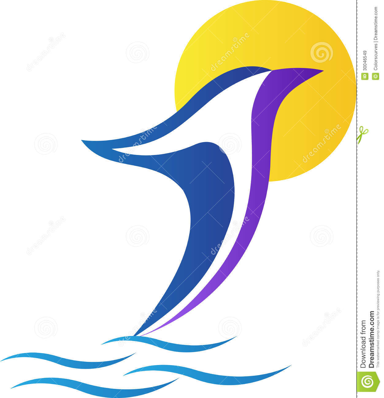 Dolphin Logo Royalty Free Stock Images - Image: 30046549