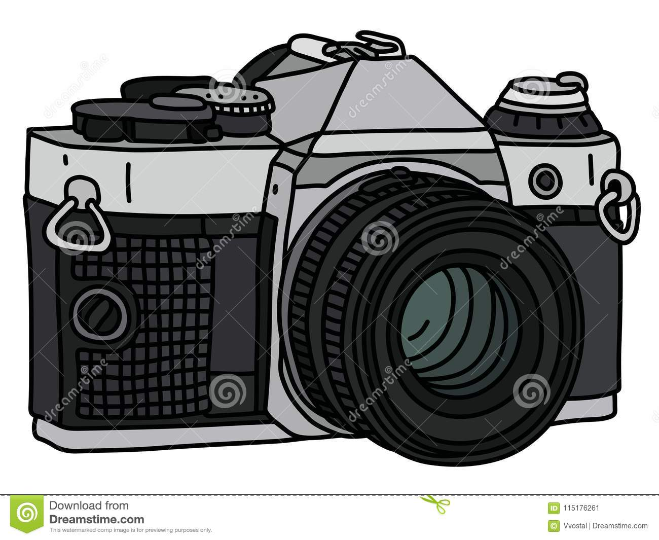 Camera Vintage Vector Free : The retro photographic camera stock vector illustration of device