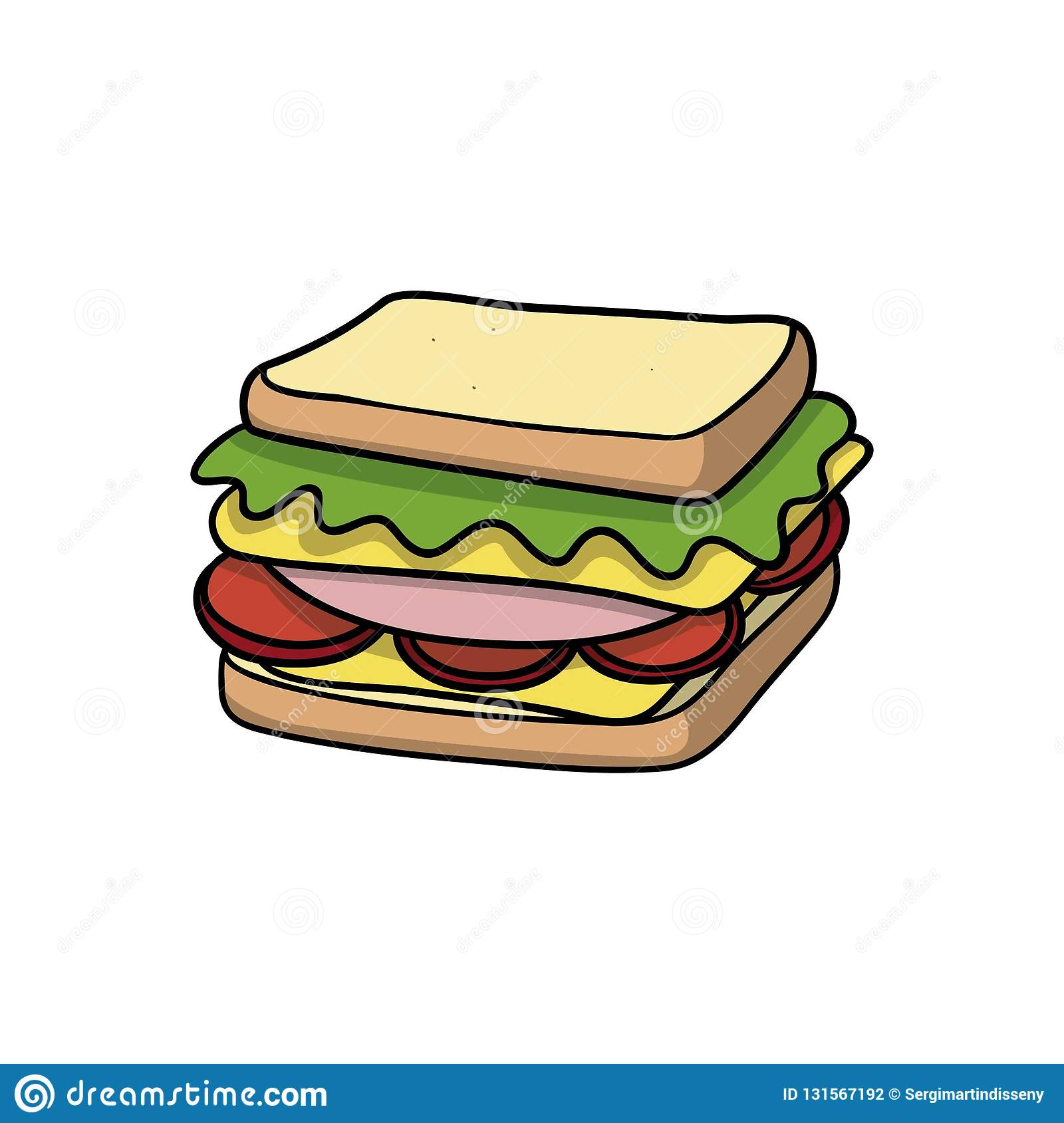 Get Sandwich Cartoon Images