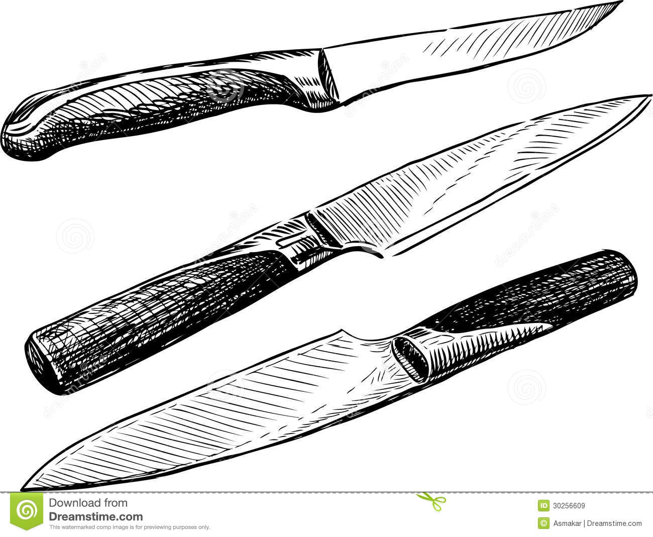 Knives royalty free stock images image 30256609 for Kitchen set drawing