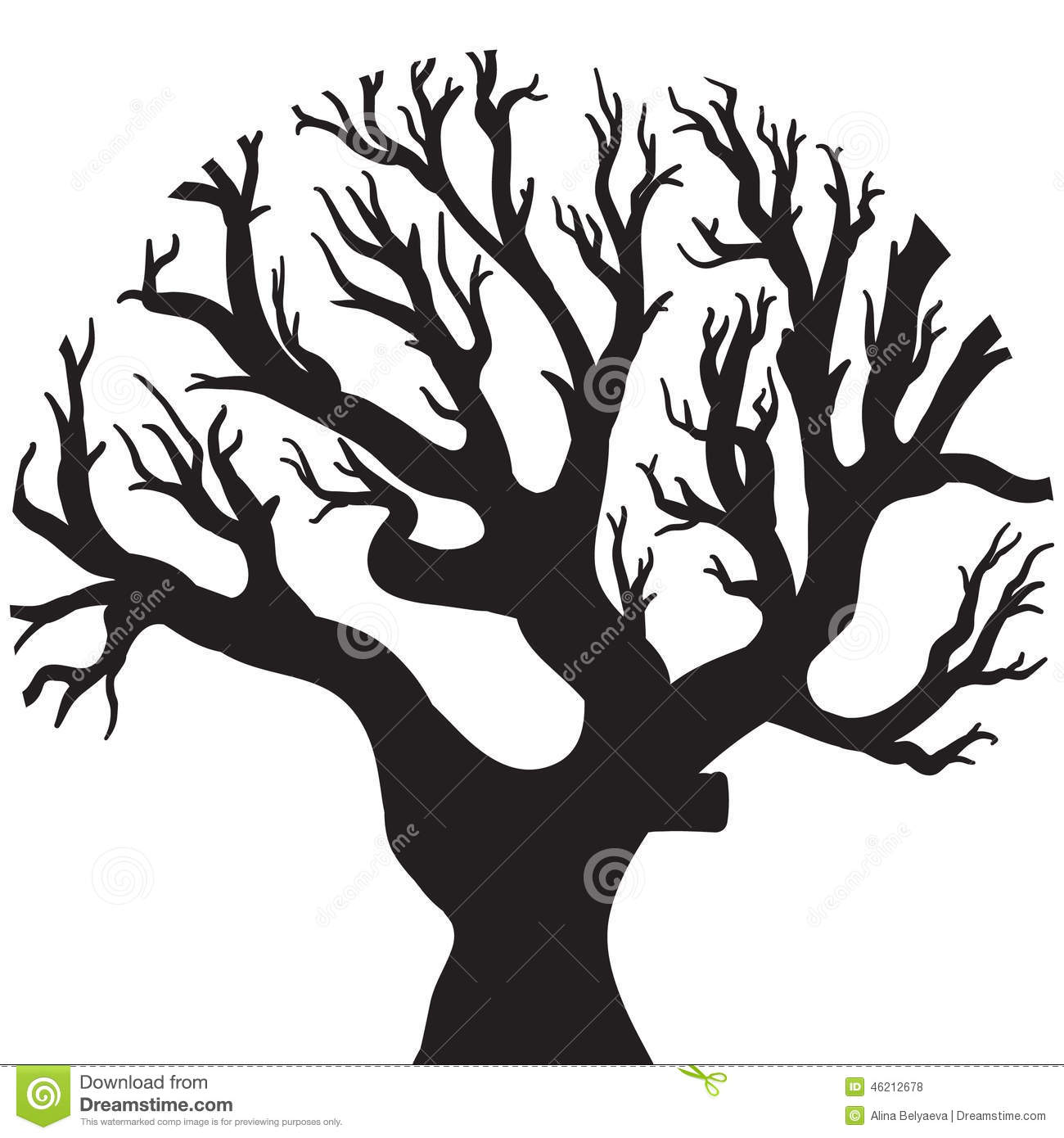 Vector Drawing Of The Tree Stock Vector Image 46212678