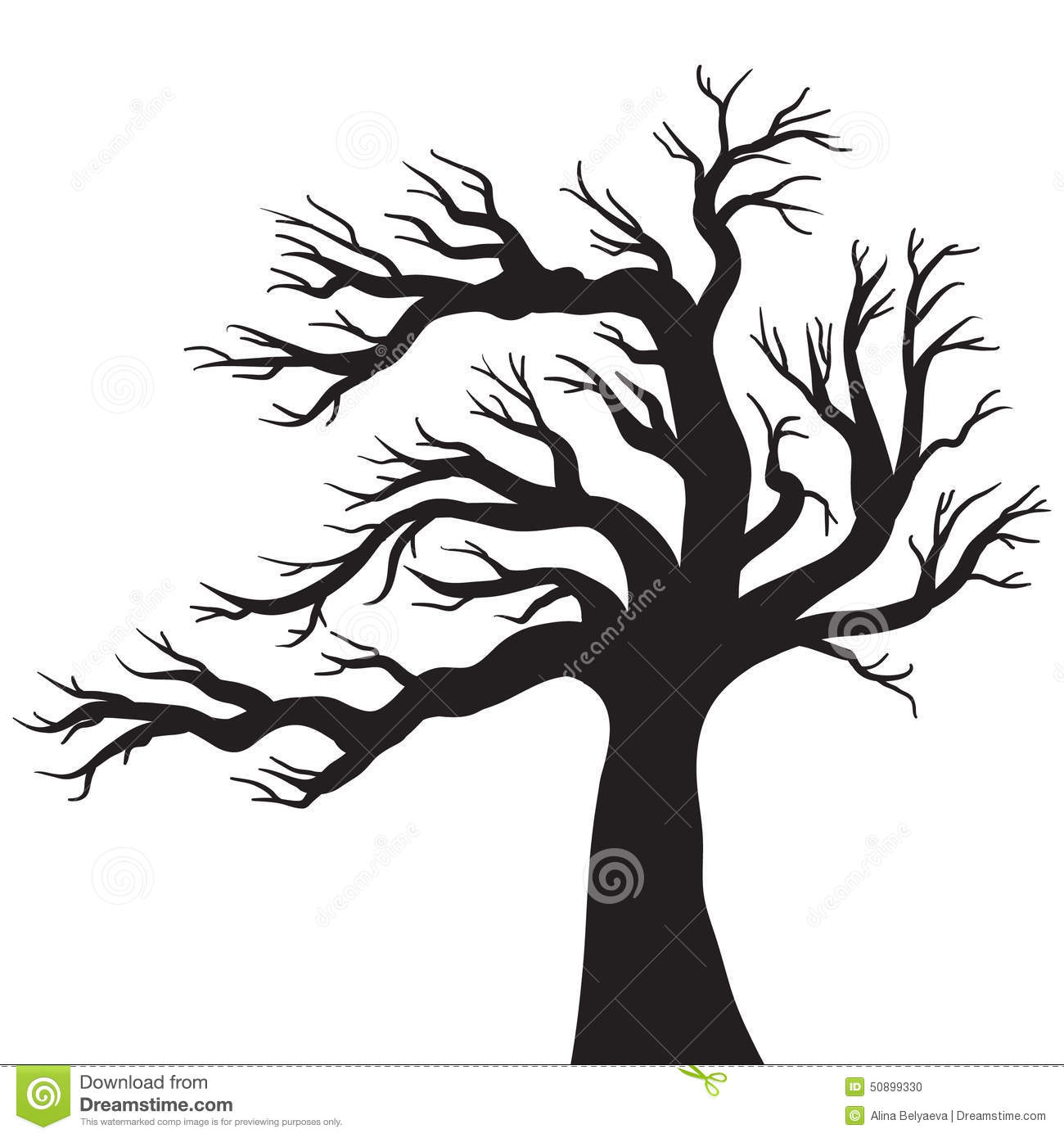 Vector Drawing Of The Tree Stock Vector Illustration Of Design