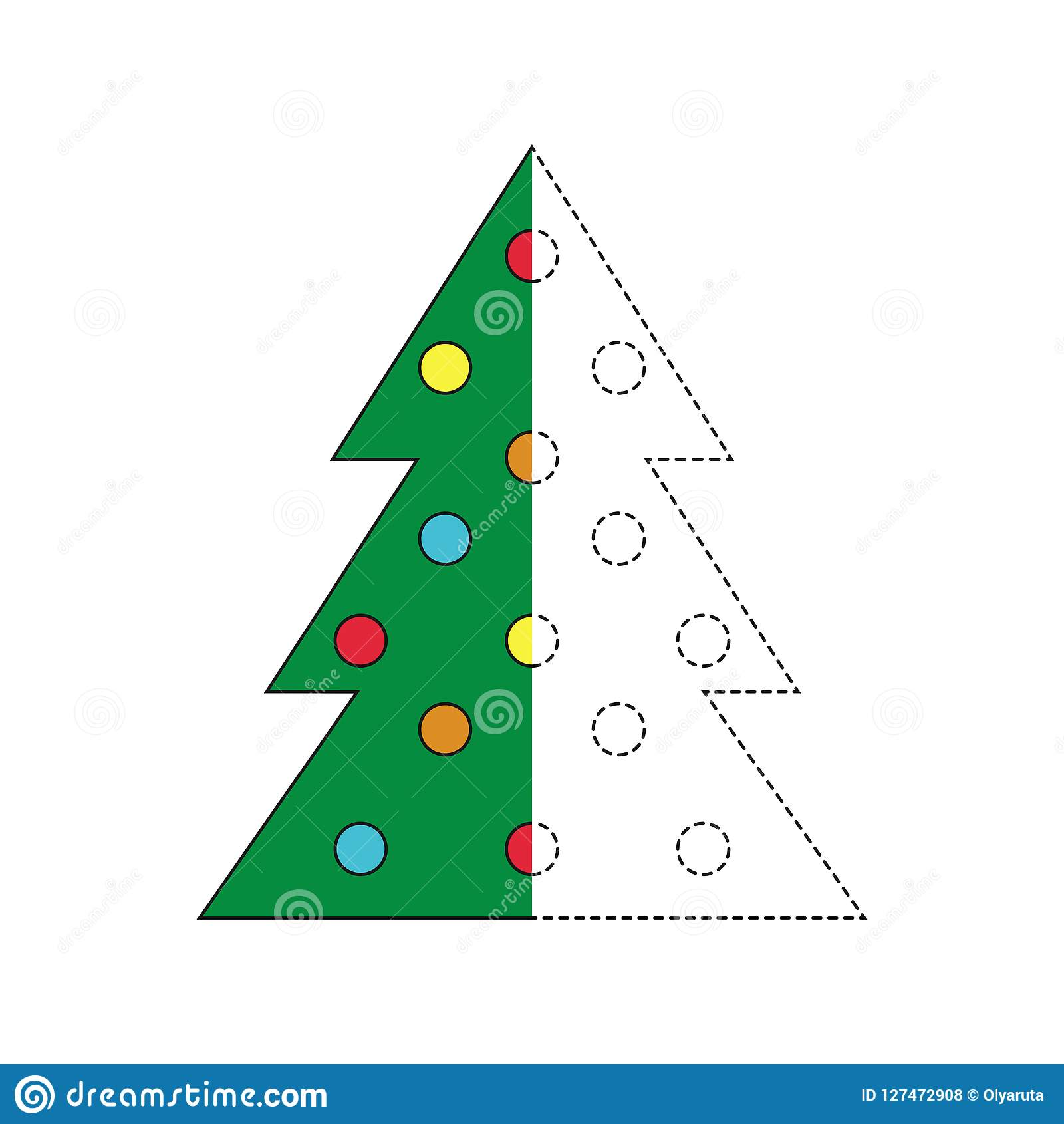 Illustration Of Christmas Tree For Toddlers Stock Vector