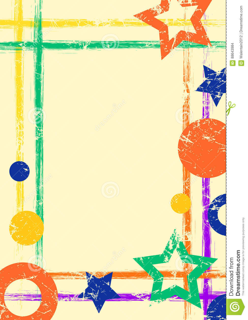 vector drawn geometric background with geometrical figures frame