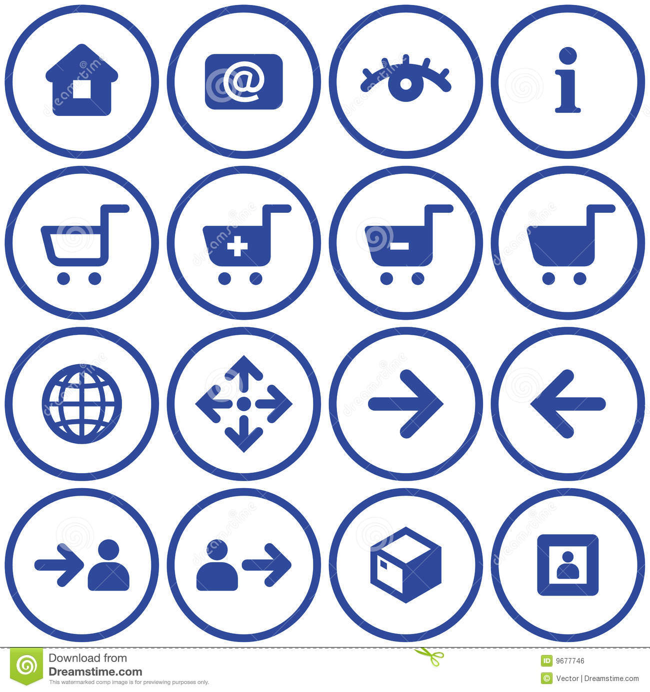 Vector E-commerce Icons Set Royalty Free Stock Image ...