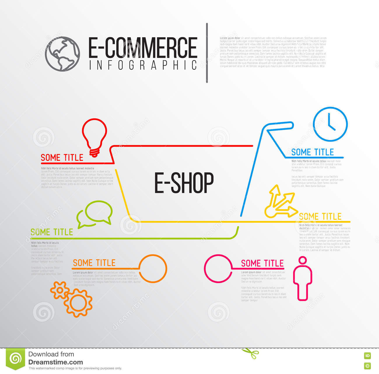 Vector E-commerce Infographic Report Template Stock Vector ...