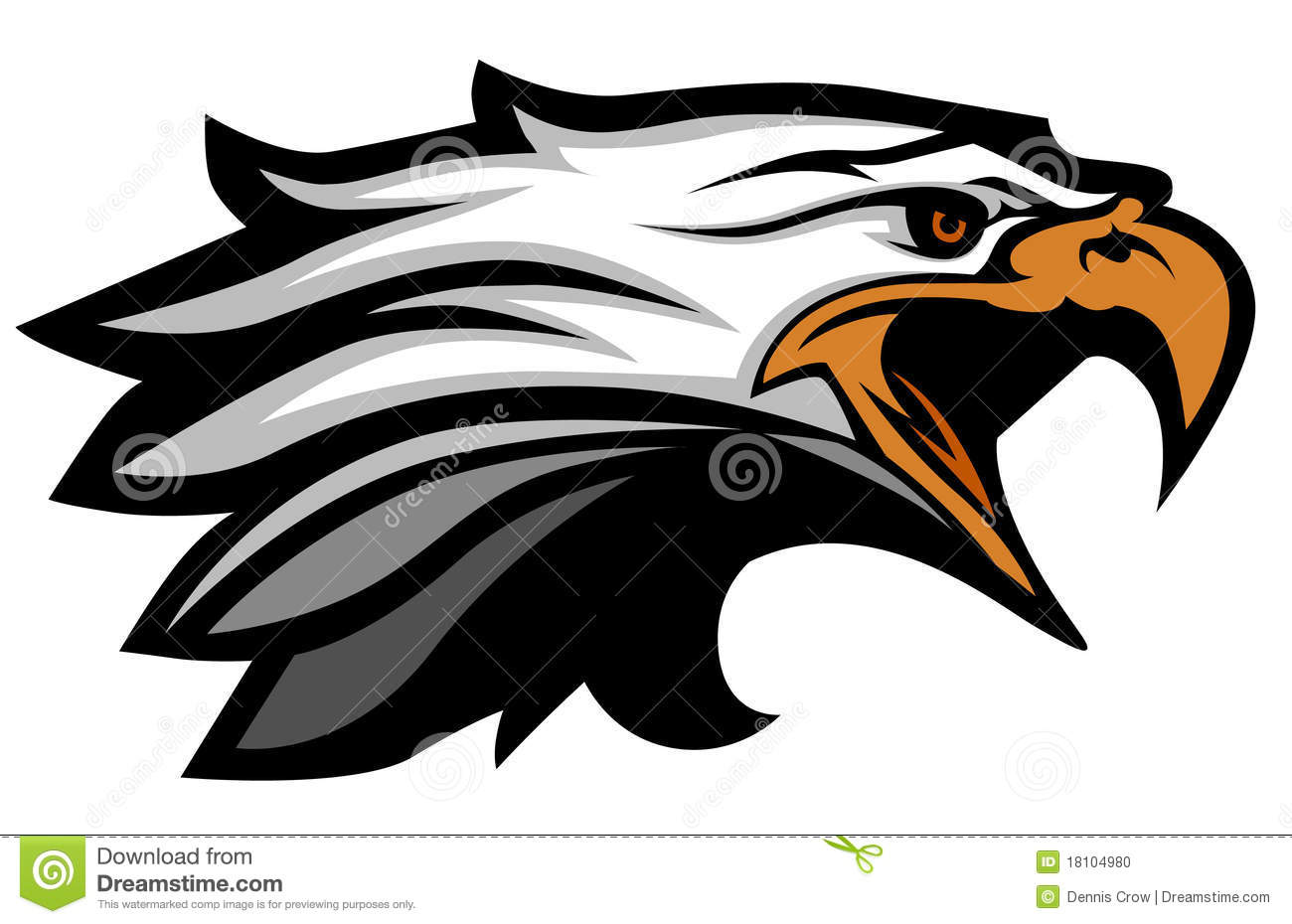 Vector Eagle Head Mascot Logo Stock Photo - Image: 18104980