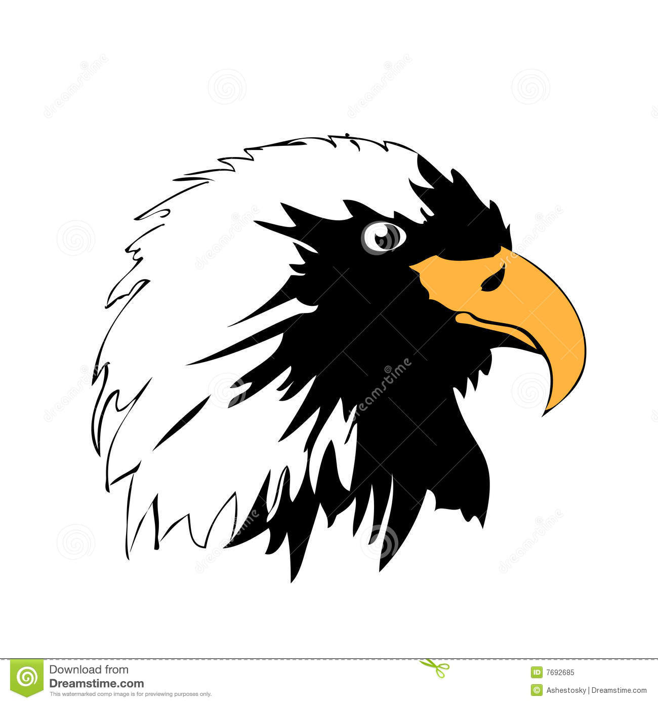 Vector Eagle Head Silhouette Royalty Free Stock Photo - Image: 7692685