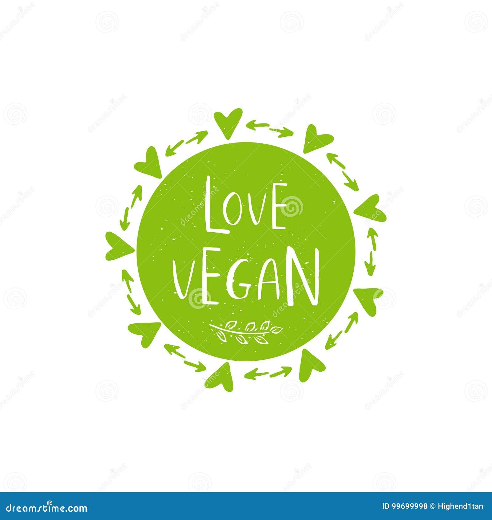 vector eco bio green logo or sign vegan raw healthy food bad