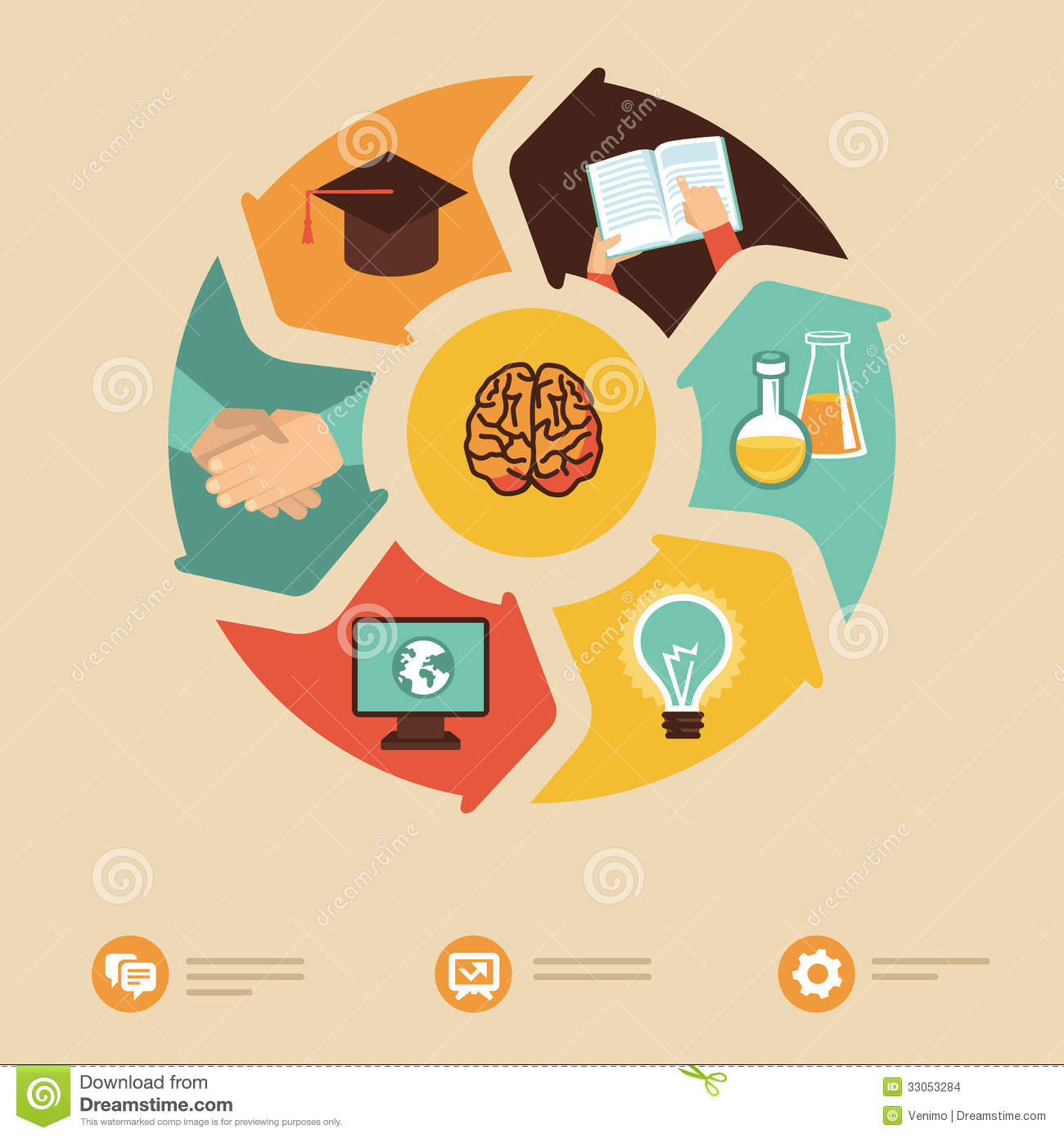 Vector Education Concept - Icons In Flat Style Stock Images ...