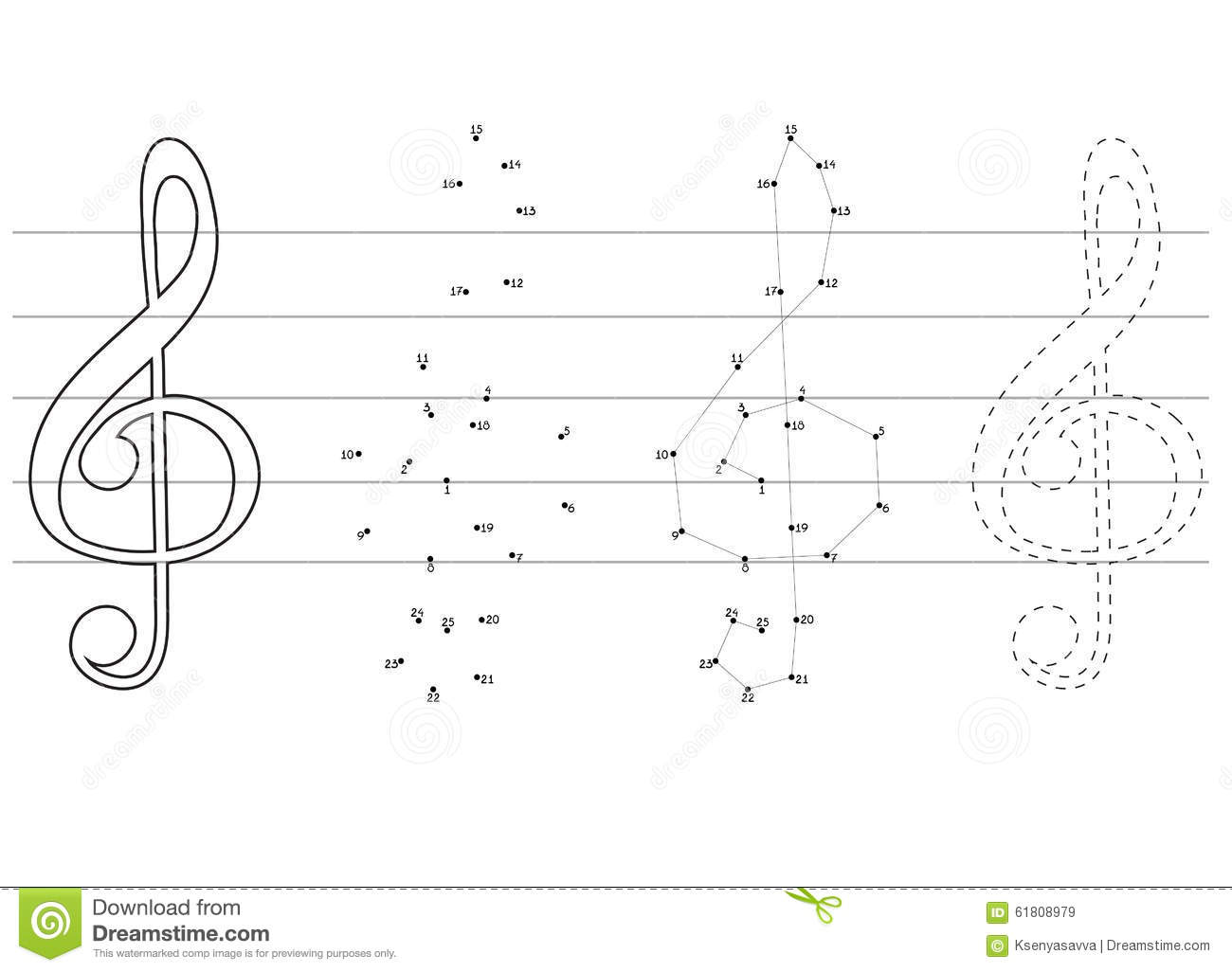Vector Drawing Lines Worksheets : Vector education games for children about music stock