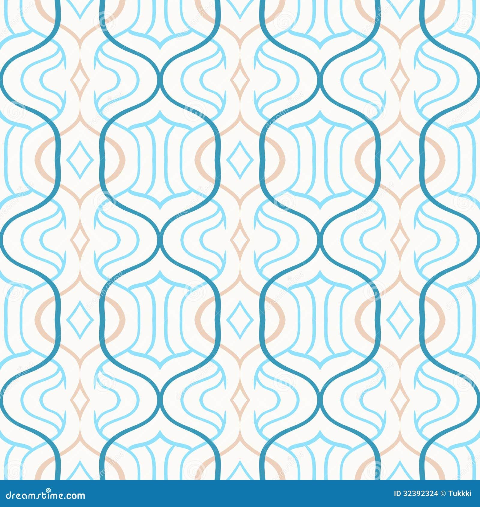Vector Eenvoudig Marokkaans Patroon In Blauw En Wit Stock Afbeeldingen ...