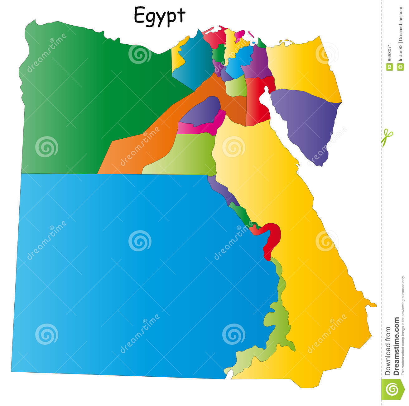 Vector Egypt Map Stock Vector Image Of Earth Cairo Continent - Map of egypt vector