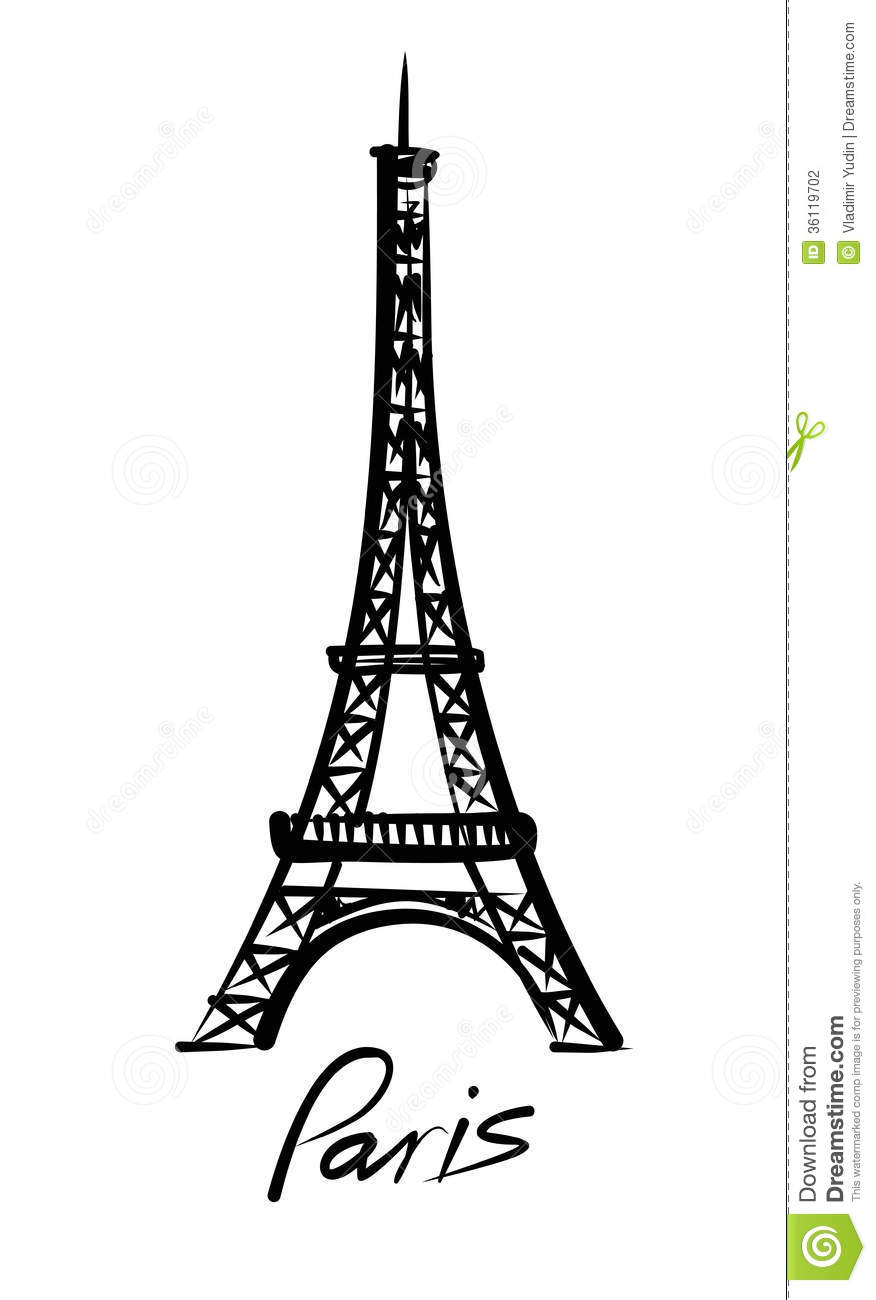 Vector eiffel tower stock vector illustration of painting 36119702 thecheapjerseys Gallery