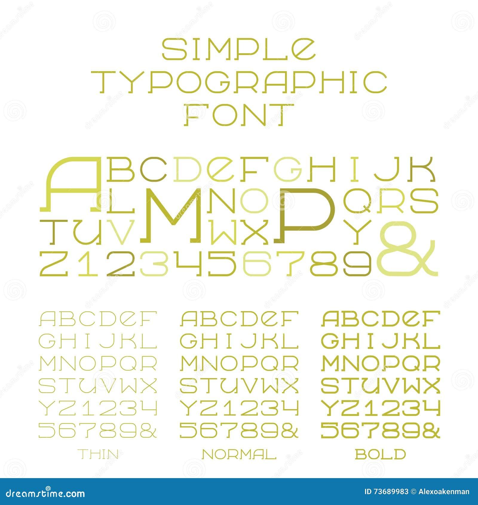 Vector einfache Arten des Serifalphabetes drei von Großbuchstaben in der flachen Art