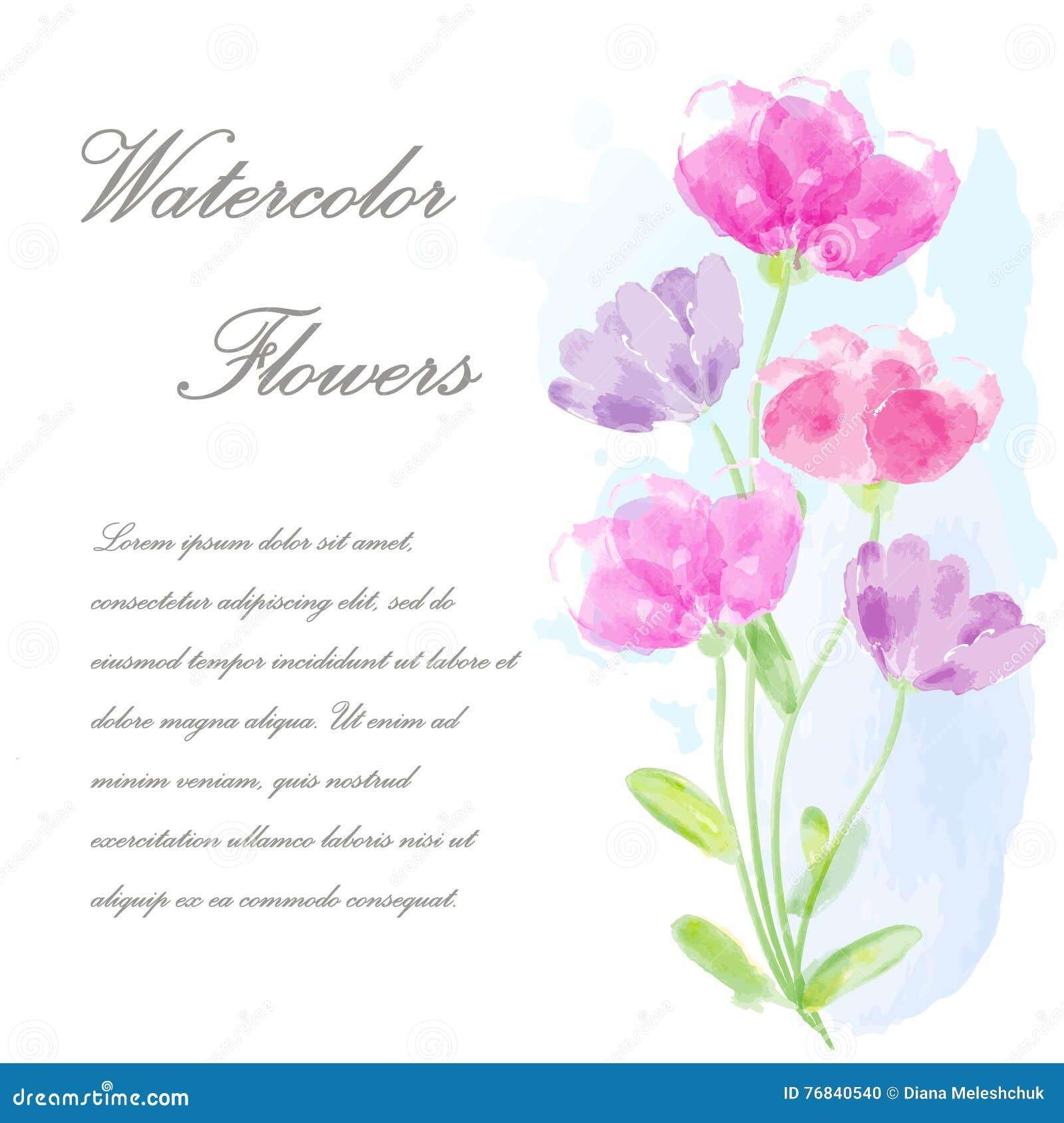 Vector Einladungskarte Mit Blumen Für Die Heirat, Heirat, Geburtstag,  Valentinstag Ich Bin Der