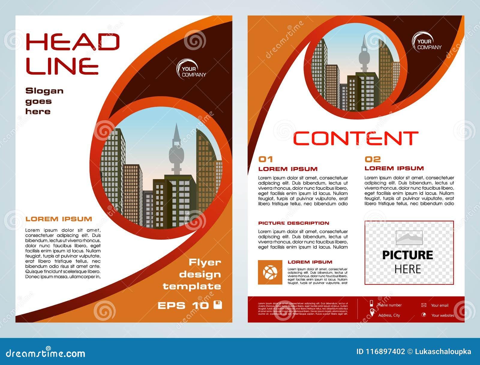 Vector el aviador, negocio corporativo, informe anual, diseño del folleto