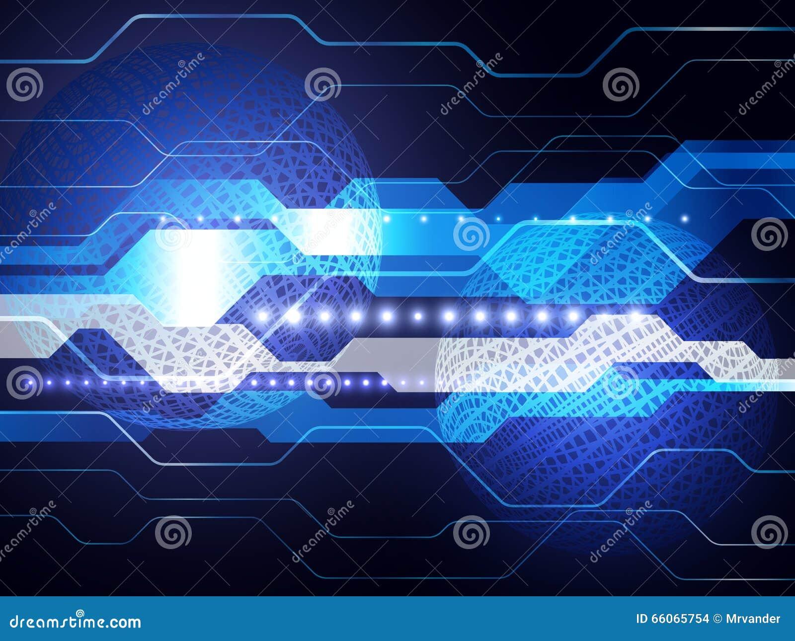 Vector el concepto global digital de la tecnología, fondo abstracto