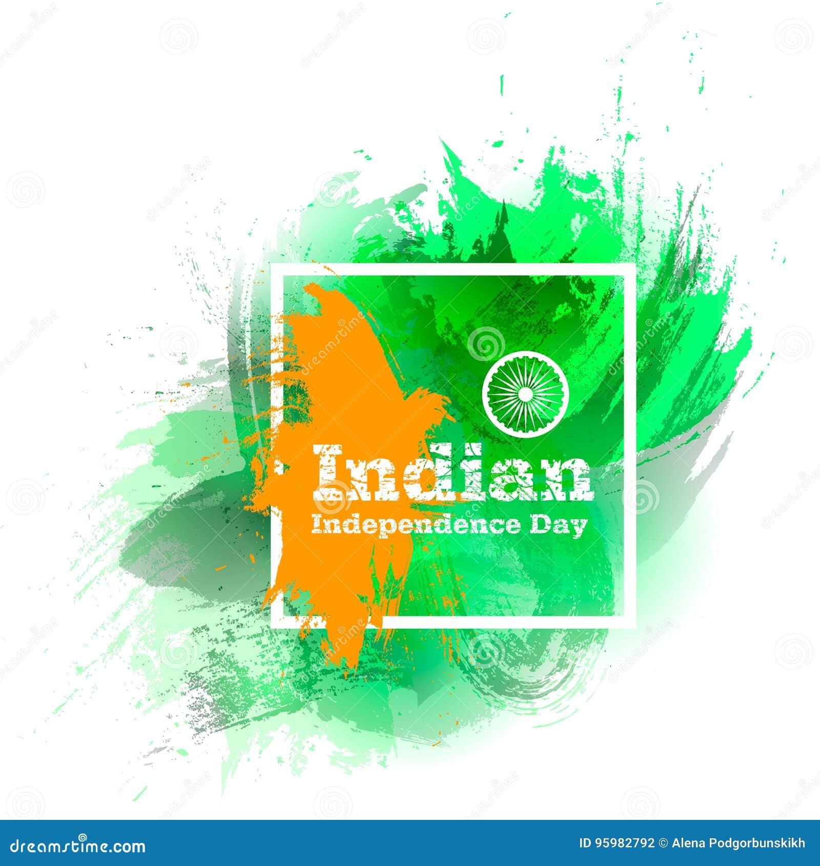 Vector El Día De La Independencia Indio Del Ejemplo, Bandera De La ...