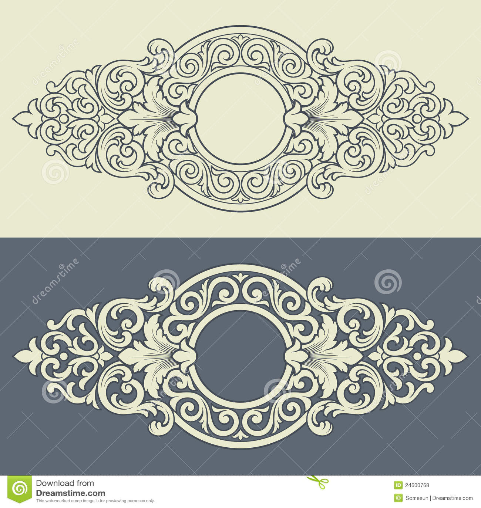 Vector el diseño decorativo del modelo del marco de la vendimia