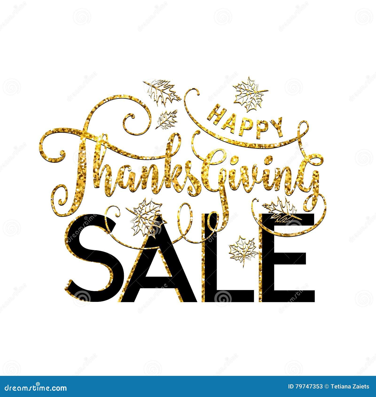 Vector el ejemplo de la venta feliz de la acción de gracias, diseño de lujo
