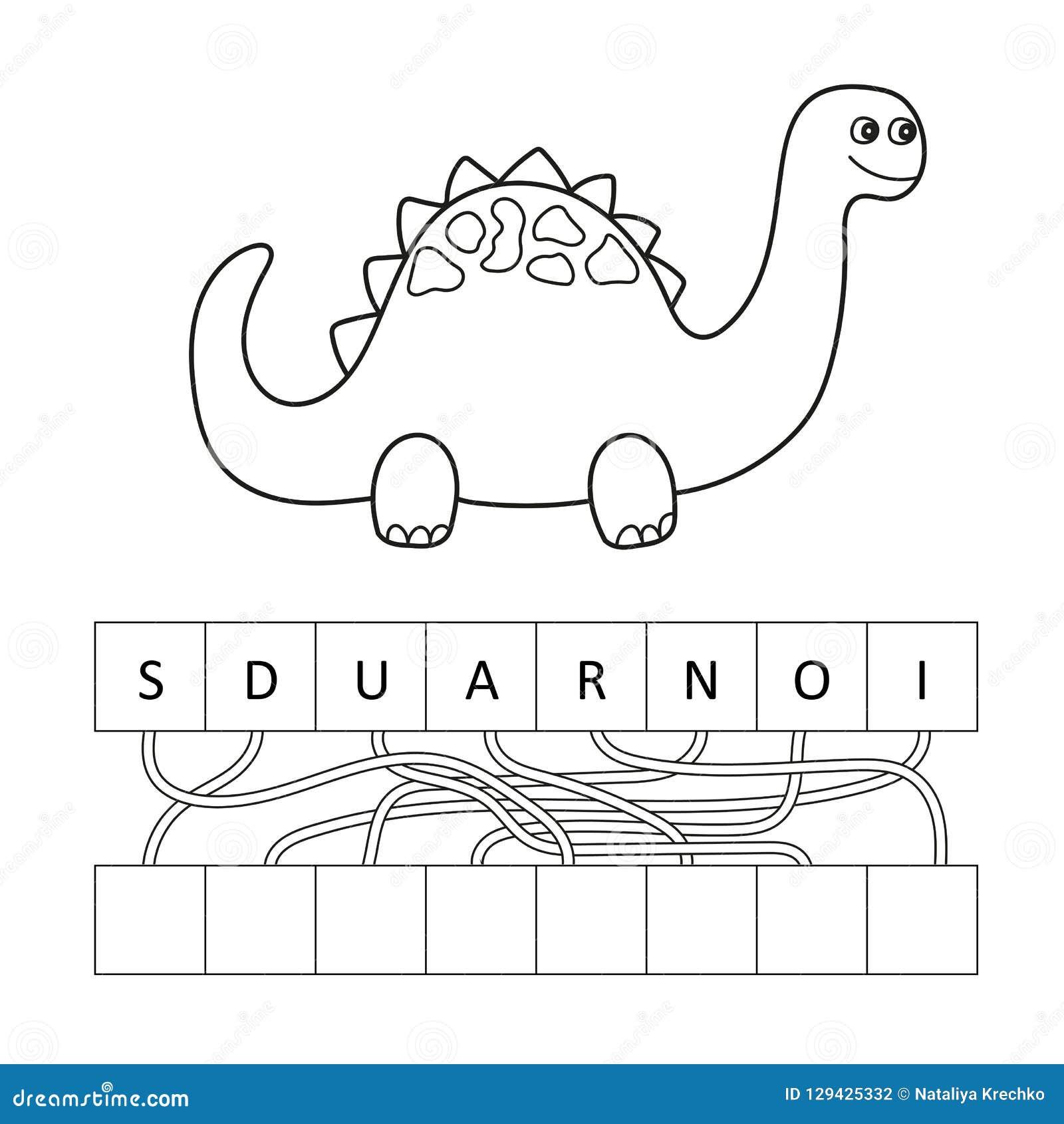 Vector El Ejemplo Del Carácter Lindo Del Dinosaurio De La