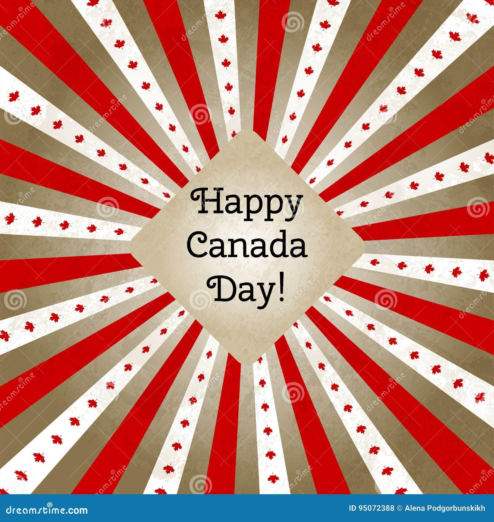 Vector El Ejemplo Para El Día De Canadá, Tarjeta De Felicitación ...