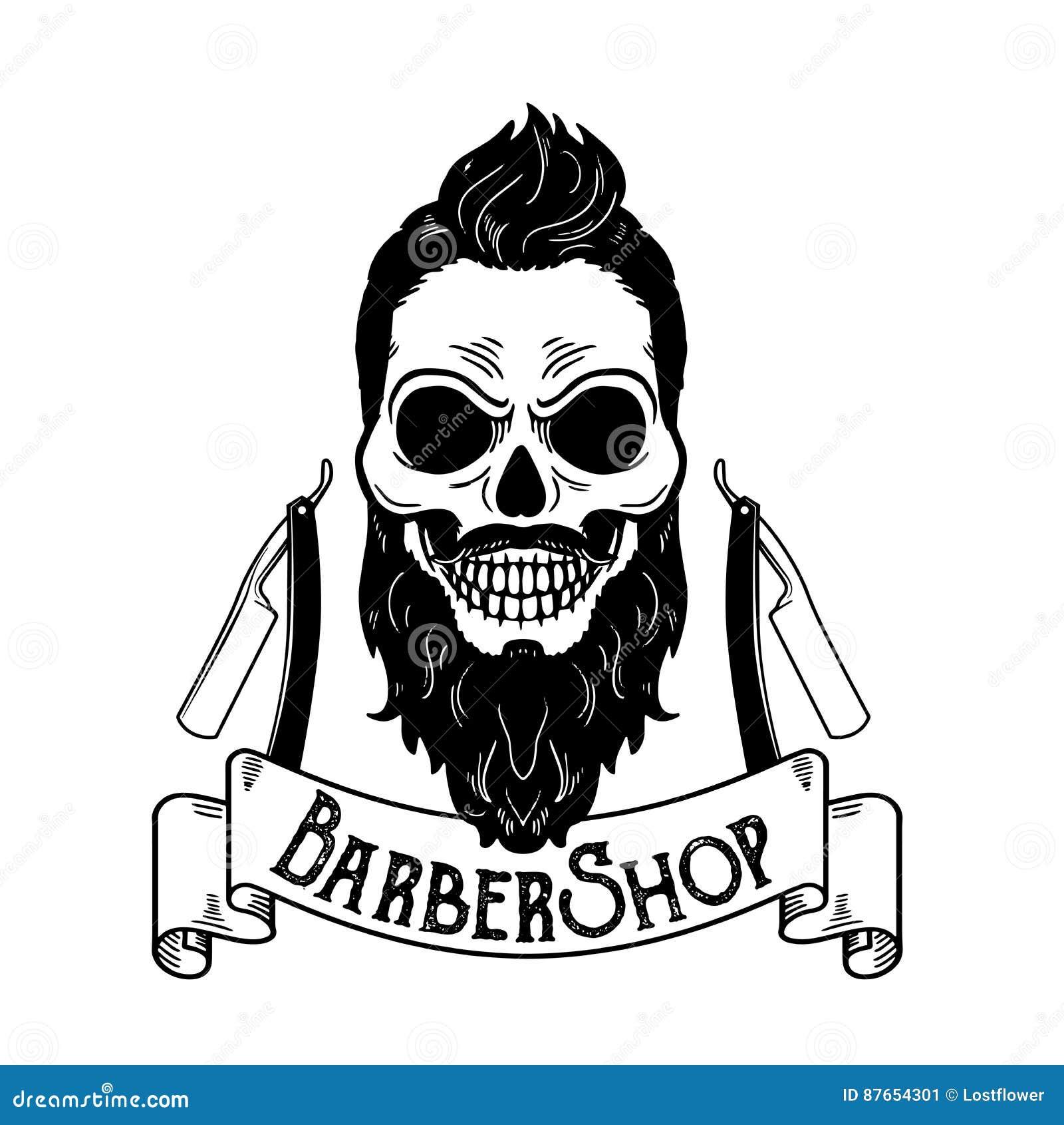 Vector el emblema de la barber a logotipo de la barber a - La barberia de vigo ...