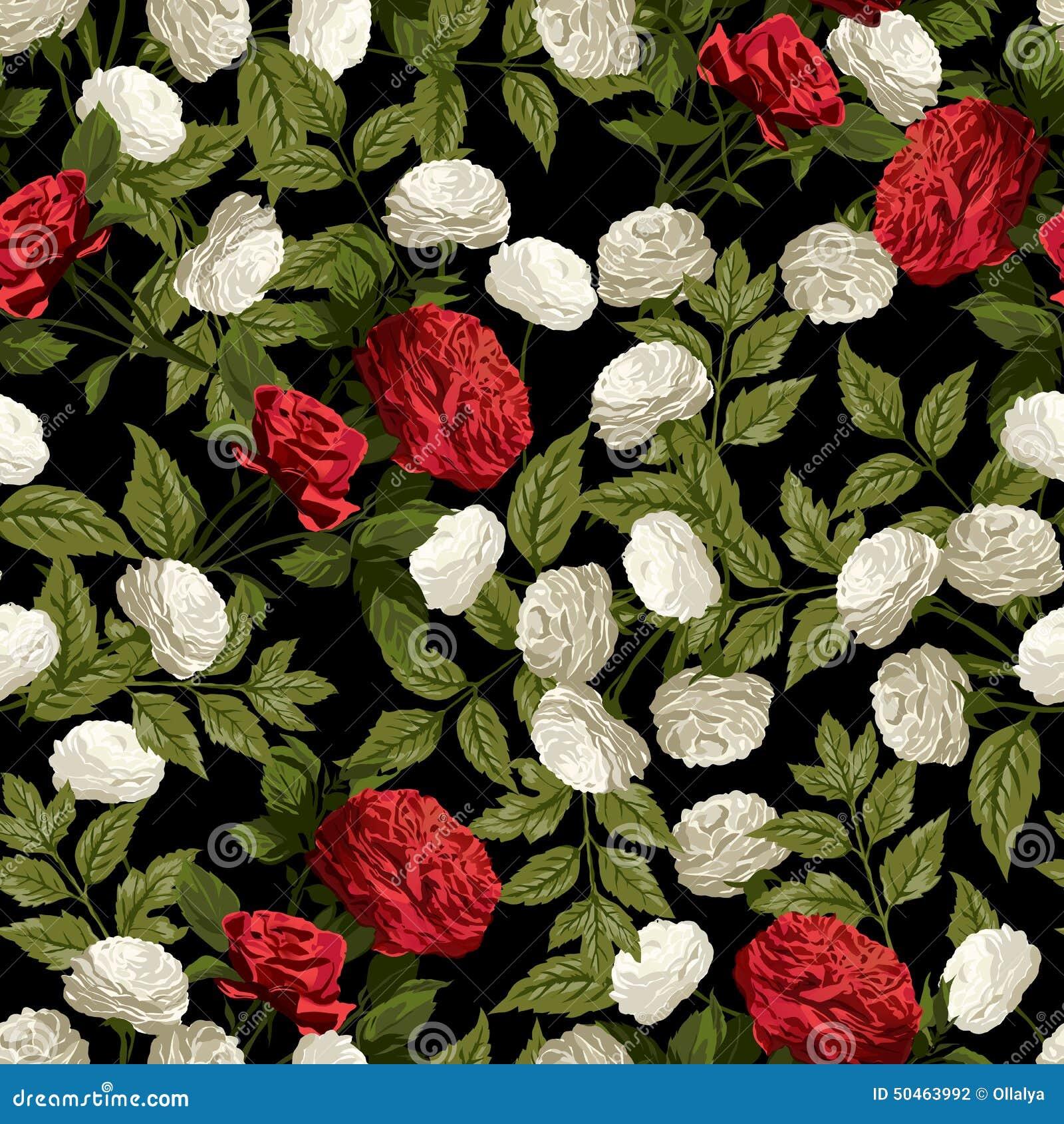 Estampado de flores blancas