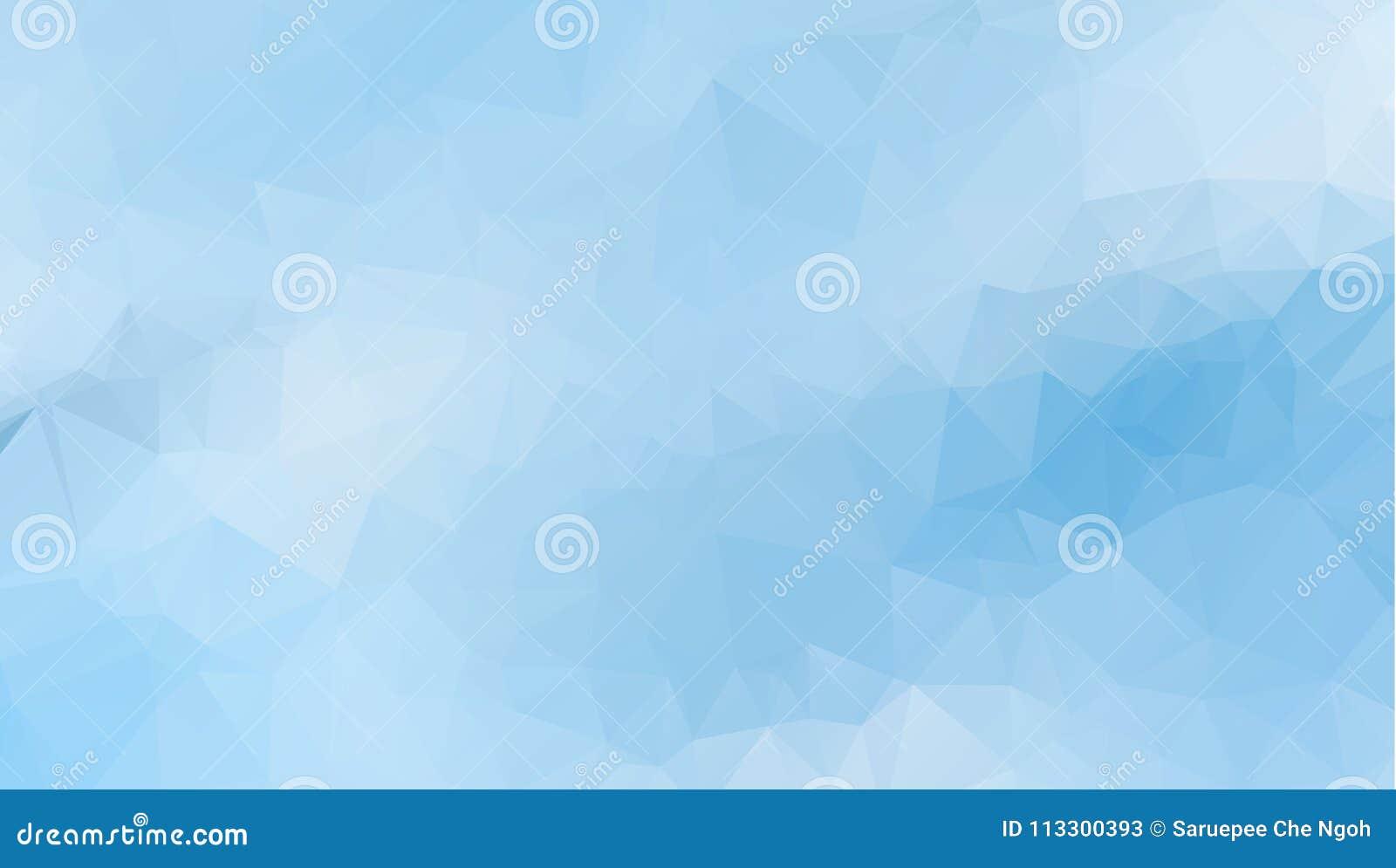 Vector el fondo geométrico poligonal moderno abstracto del triángulo del polígono Fondo geométrico ligero azul del triángulo