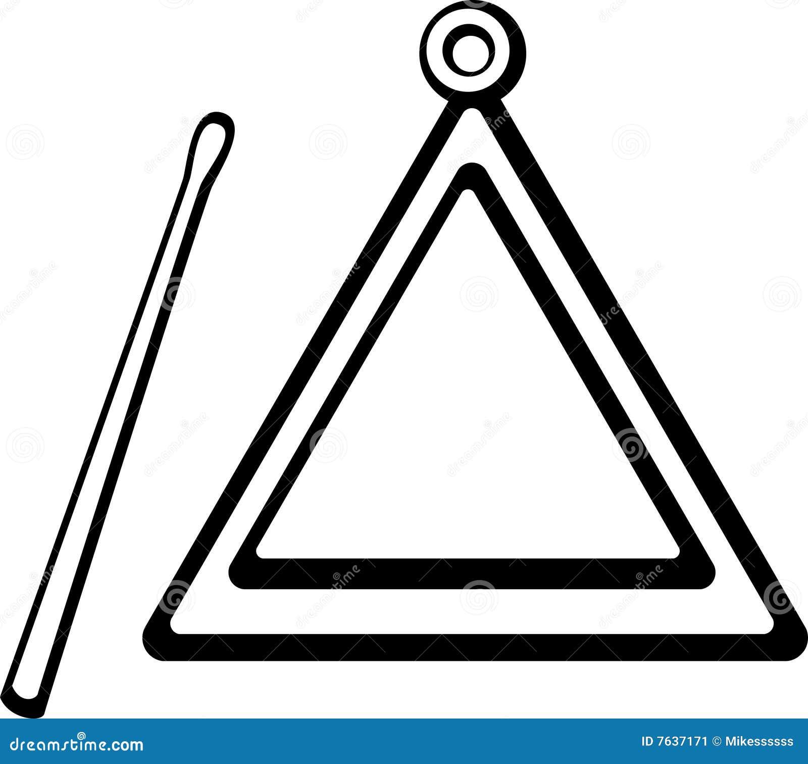Perfecto Página Para Colorear Instrumentos Triángulo Ornamento ...