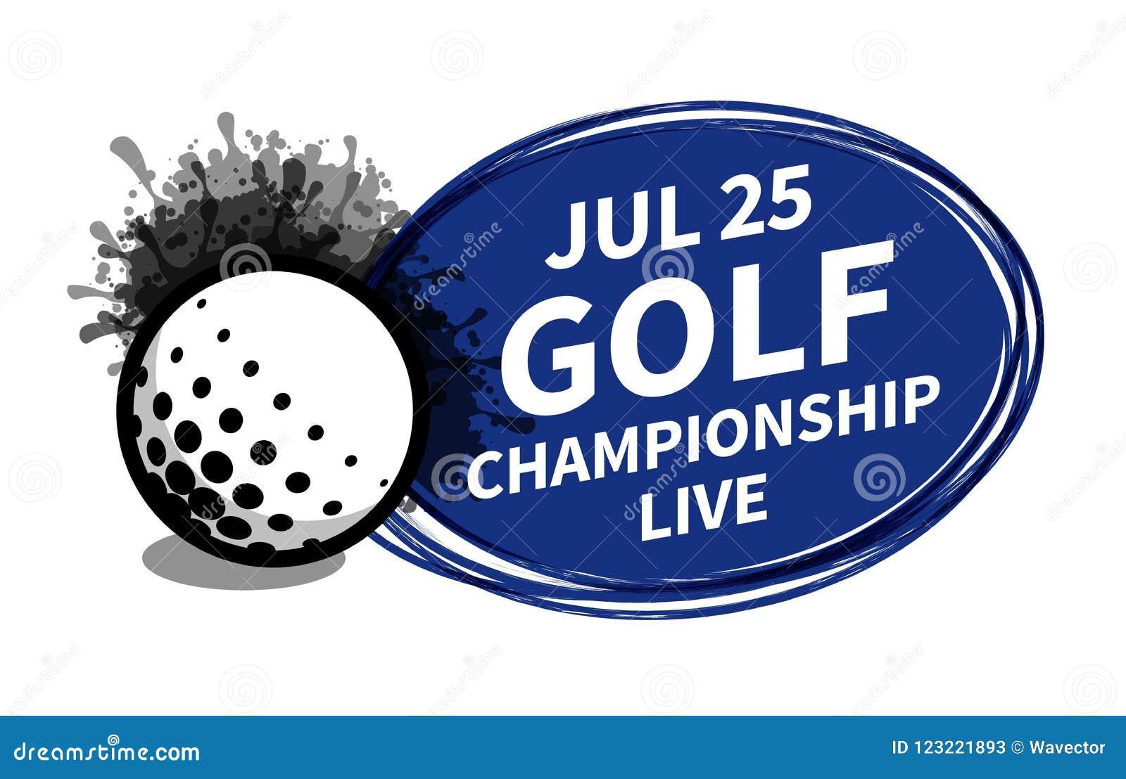 Vector el lugar del fondo del proyector del marcador del deporte del golf para el anuncio del texto de la copia Bandera, aviador,