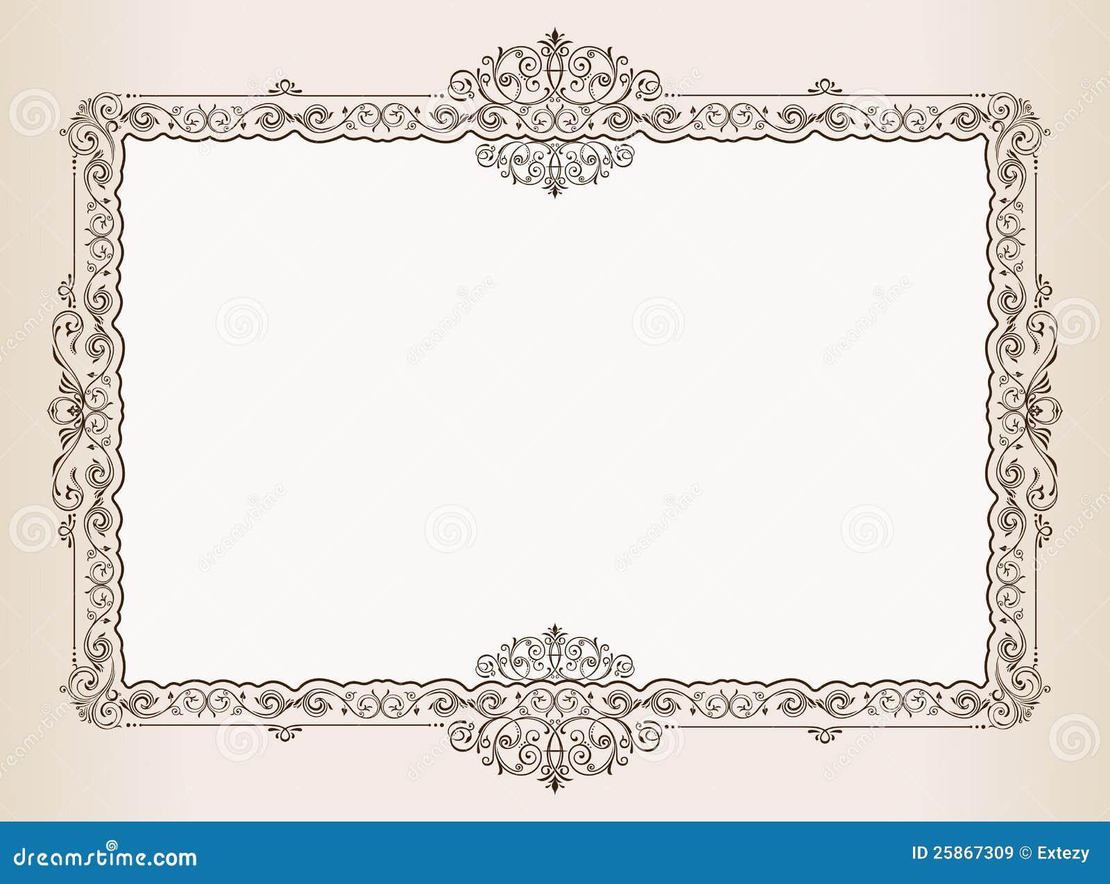 Vector el marco de la vendimia. adorna el documento real
