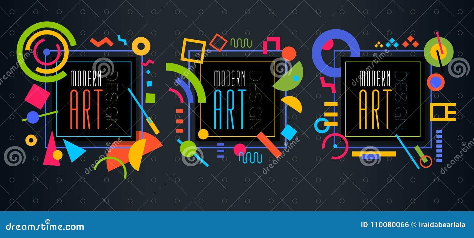 Vector El Marco Dinámico Geométrico Abstracto Art Desig Moderno Del ...