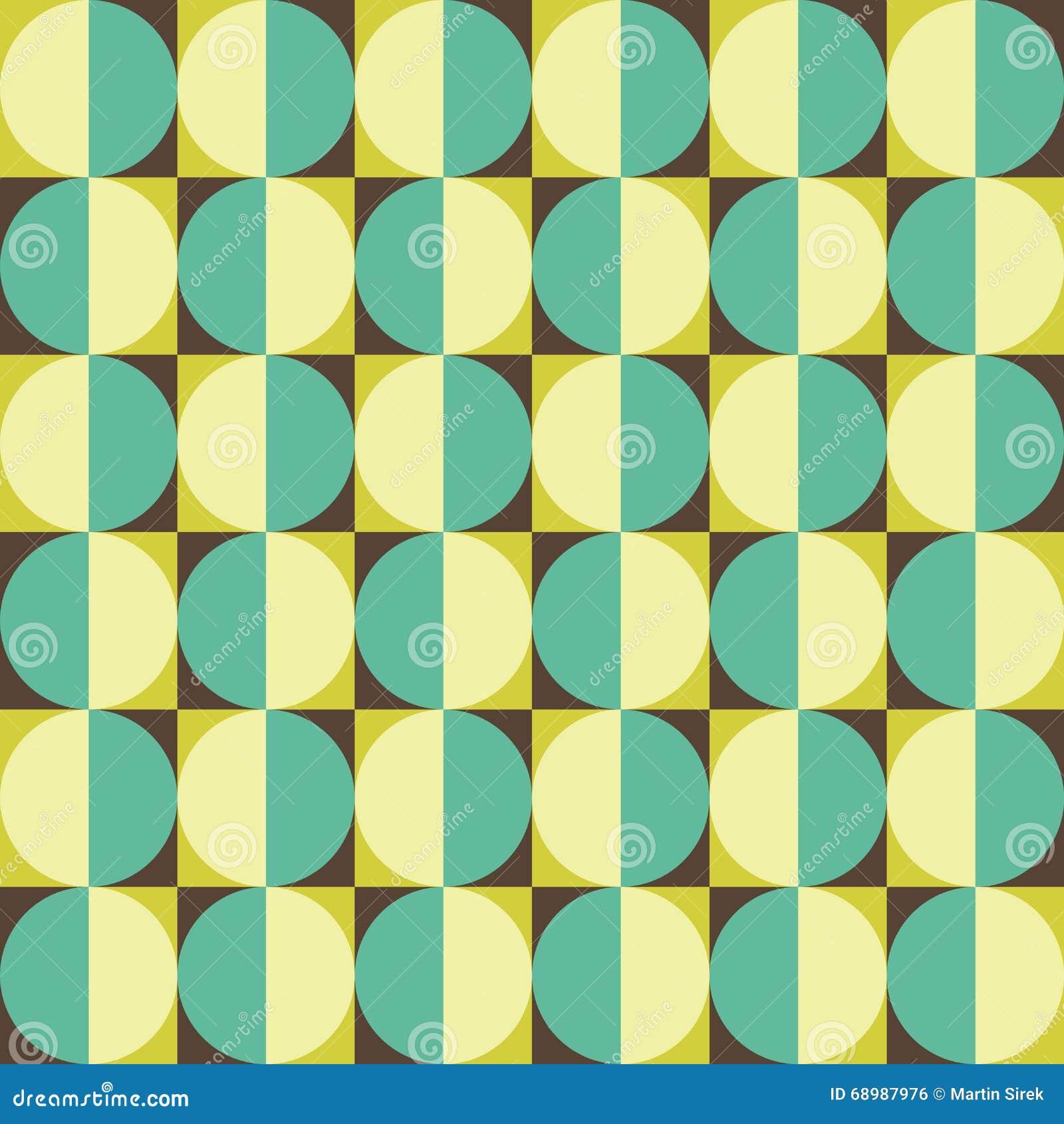 Vector el modelo colorido inconsútil moderno del círculo de la geometría, extracto del color