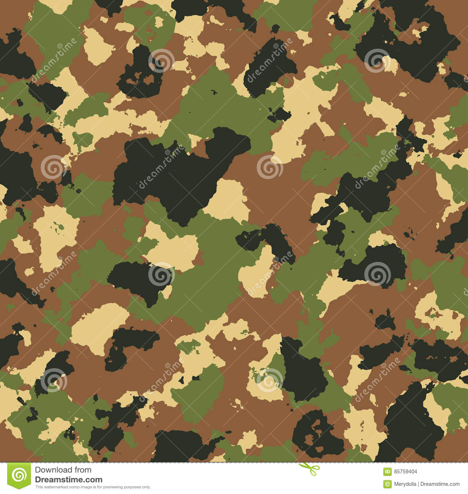 Vector El Modelo Del Camuflaje De Los Militares En Colores Verdes Y ...