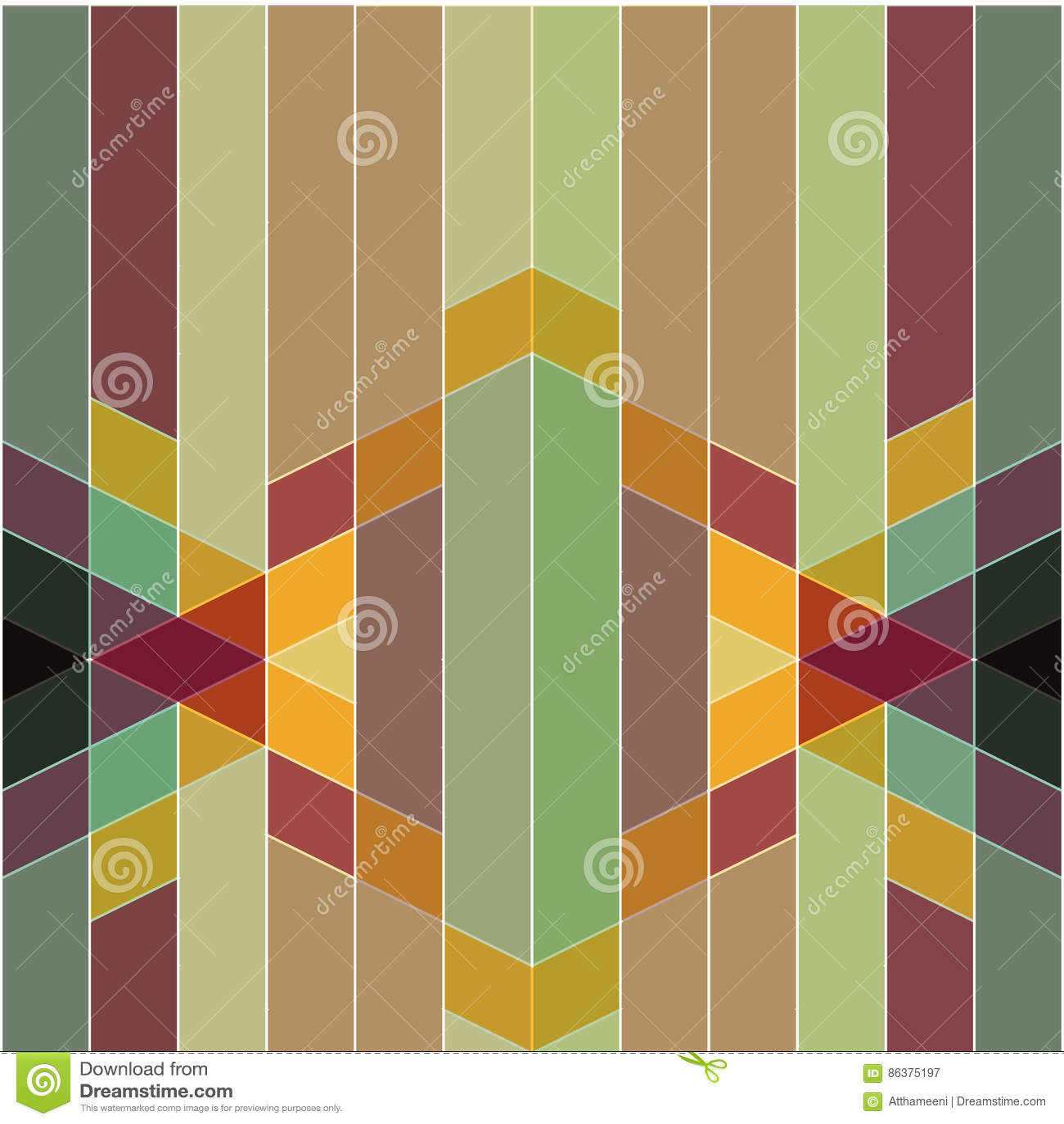 Vector el modelo geométrico colorido abstracto retro y el st del art déco