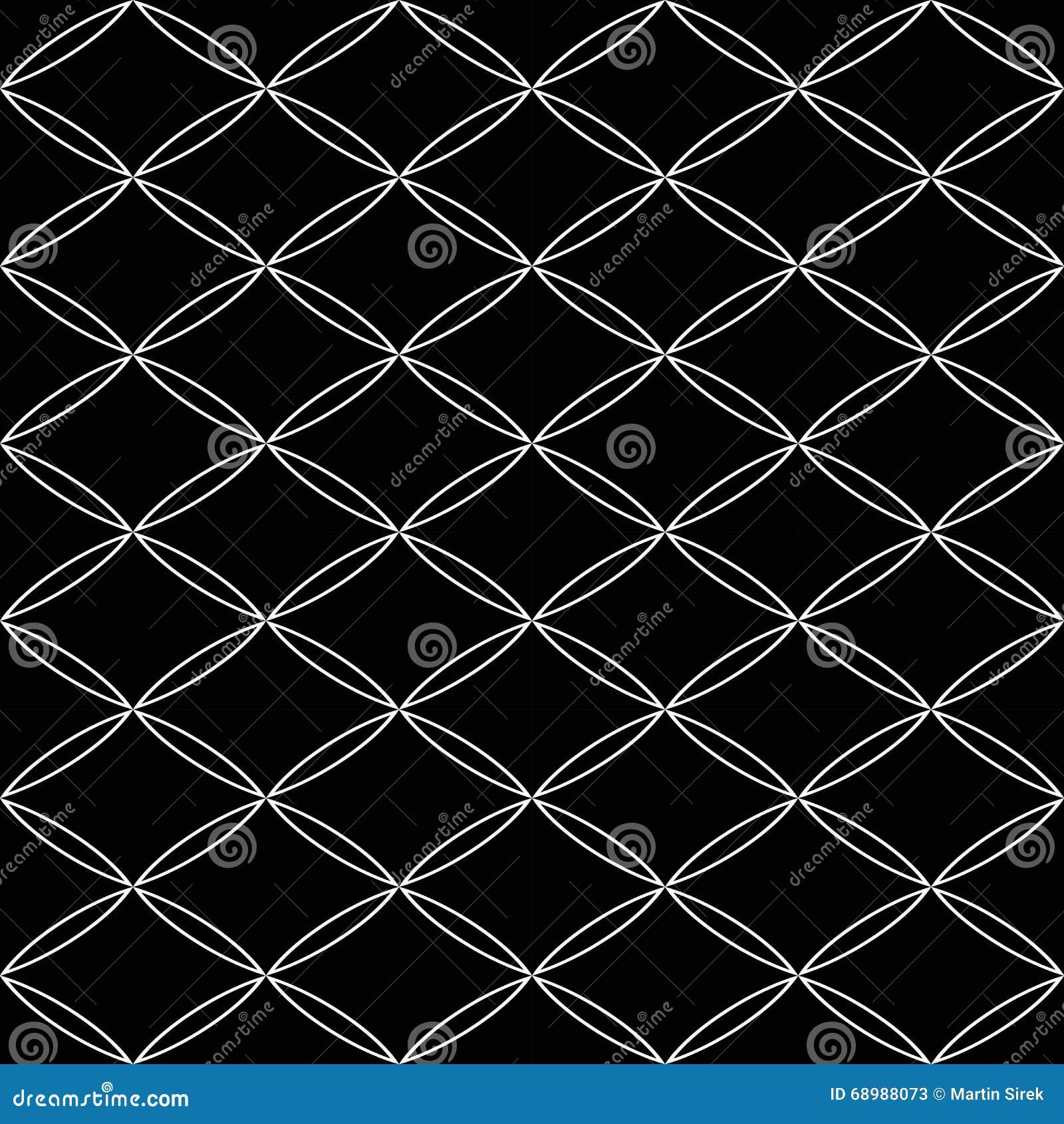 Vector el modelo inconsútil moderno de la geometría, extracto blanco y negro