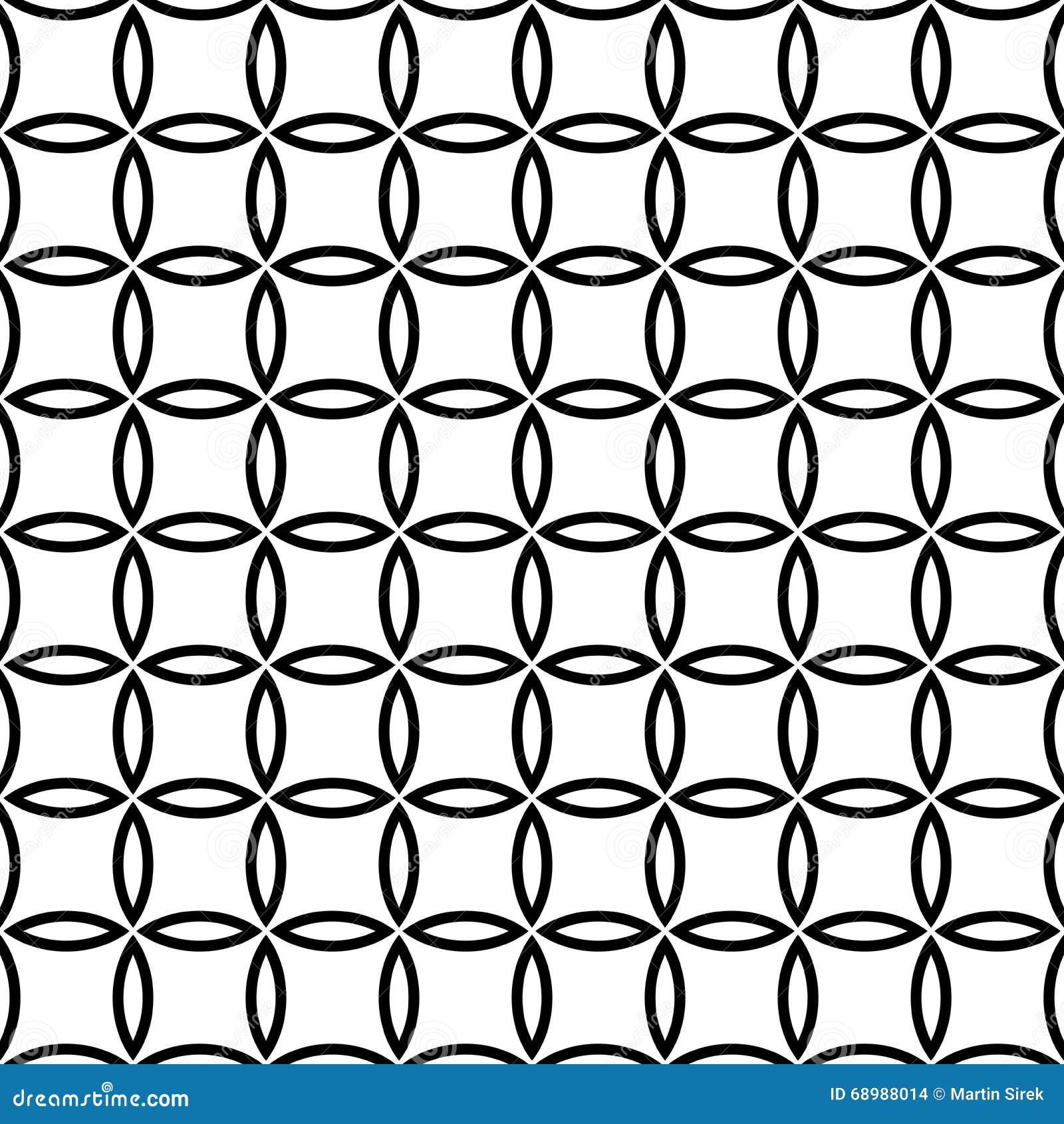 Vector el modelo inconsútil moderno floral, extracto blanco y negro de la geometría