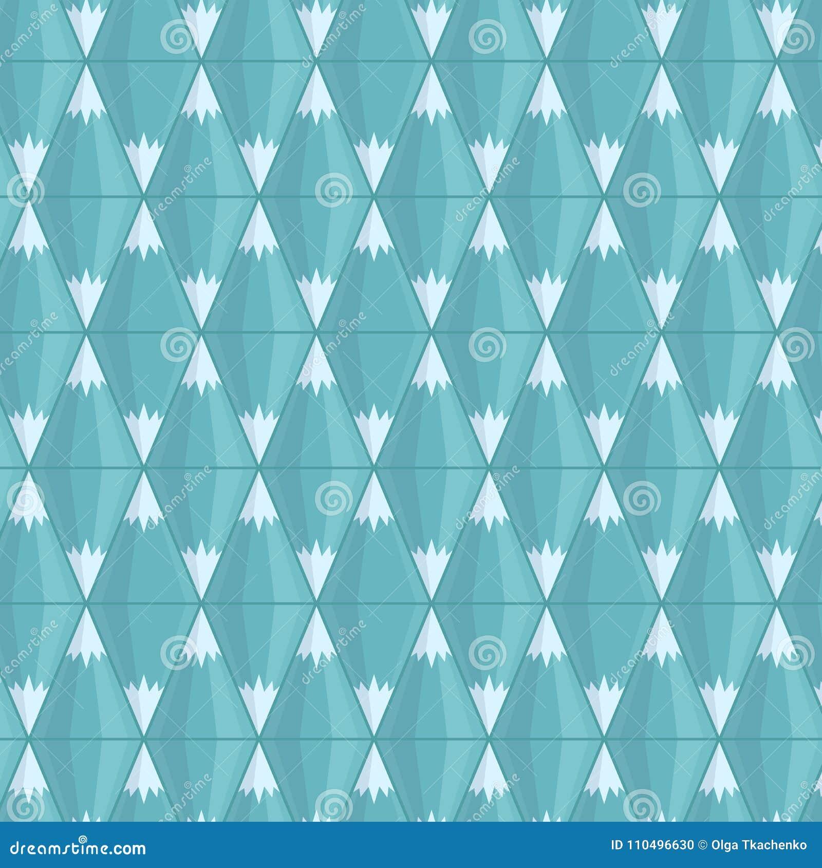 Vector el modelo inconsútil Montañas azules geométricas Ejemplo del vector, estilo plano