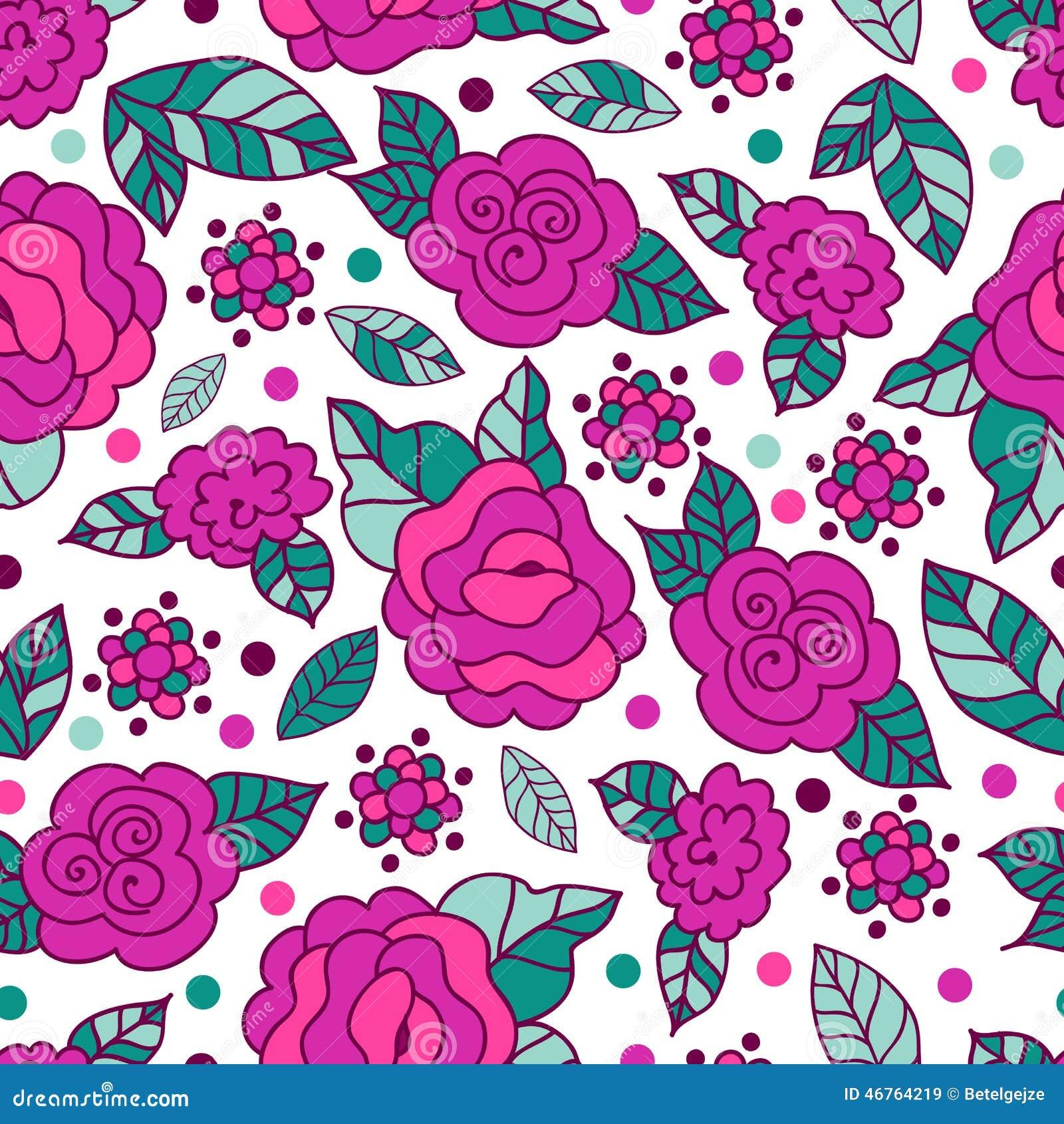 Vector el modelo a mano incons til con las flores color de - Fotos decorativas ...